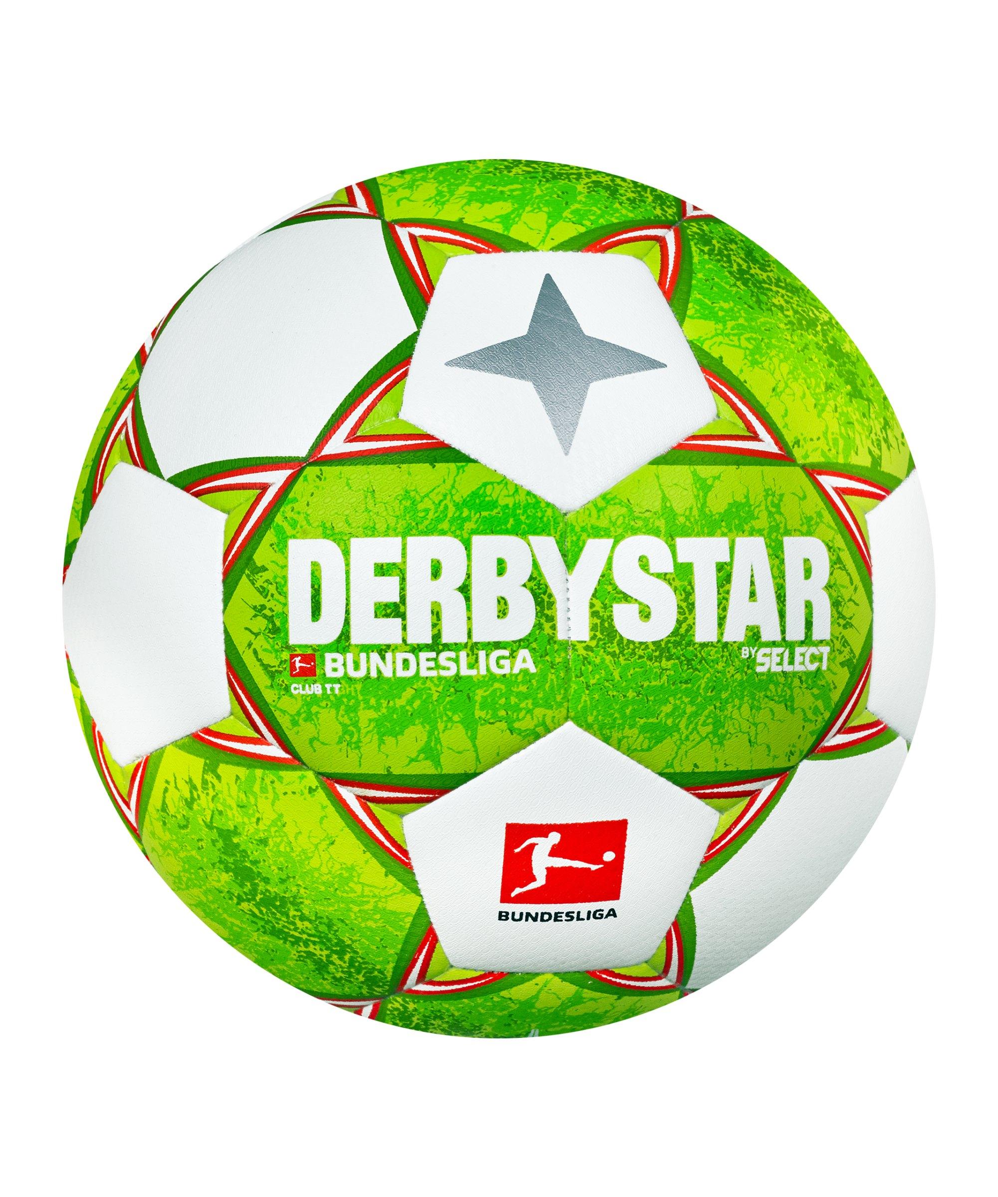 Derbystar Bundesliga Club TT v21 Trainingsball 2021/2022 Grün Orange F021 - gruen