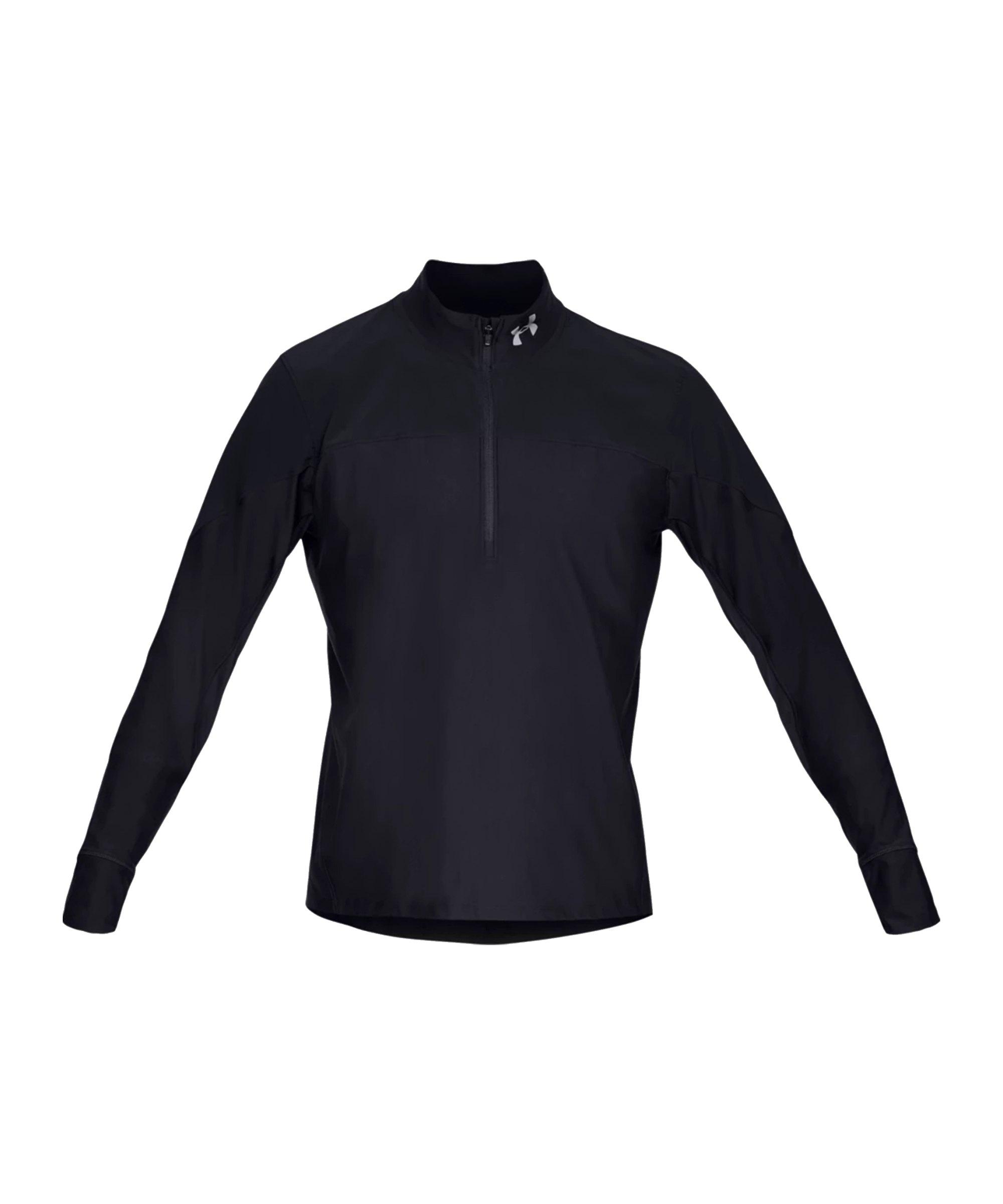 Under Armour HalfZip Sweatshirt Running F001 - schwarz