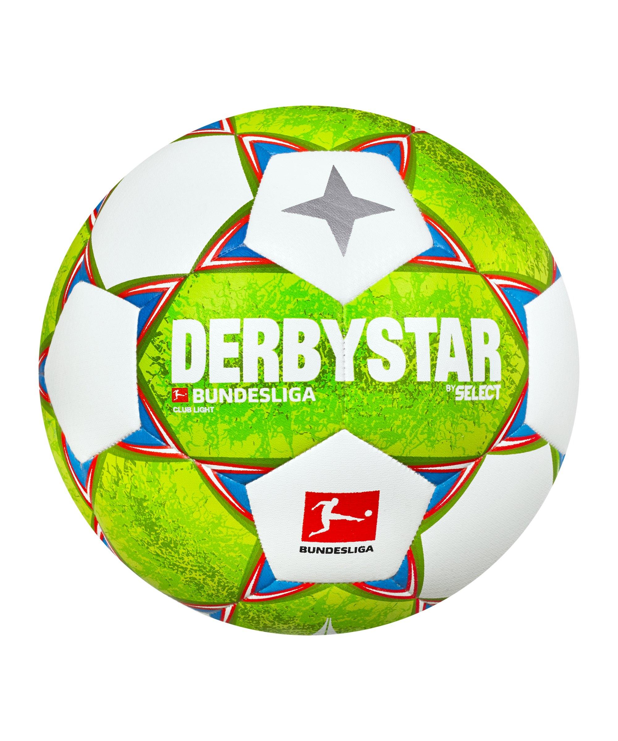 Derbystar Bundesliga Club Light v21 Trainingsball 350 Gramm 2021/2022 Grün Orange F021 - gruen