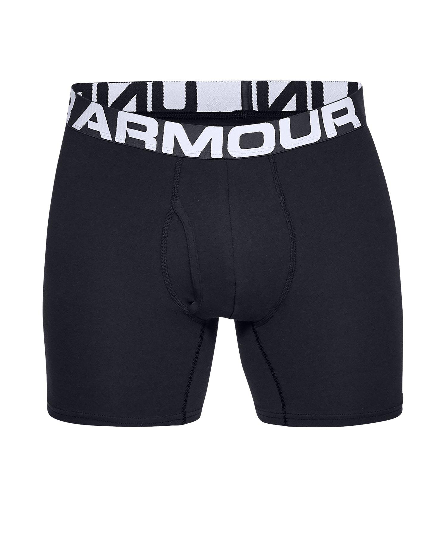 Under Armour Charged Boxerjock Short 3er Pack F001 - schwarz