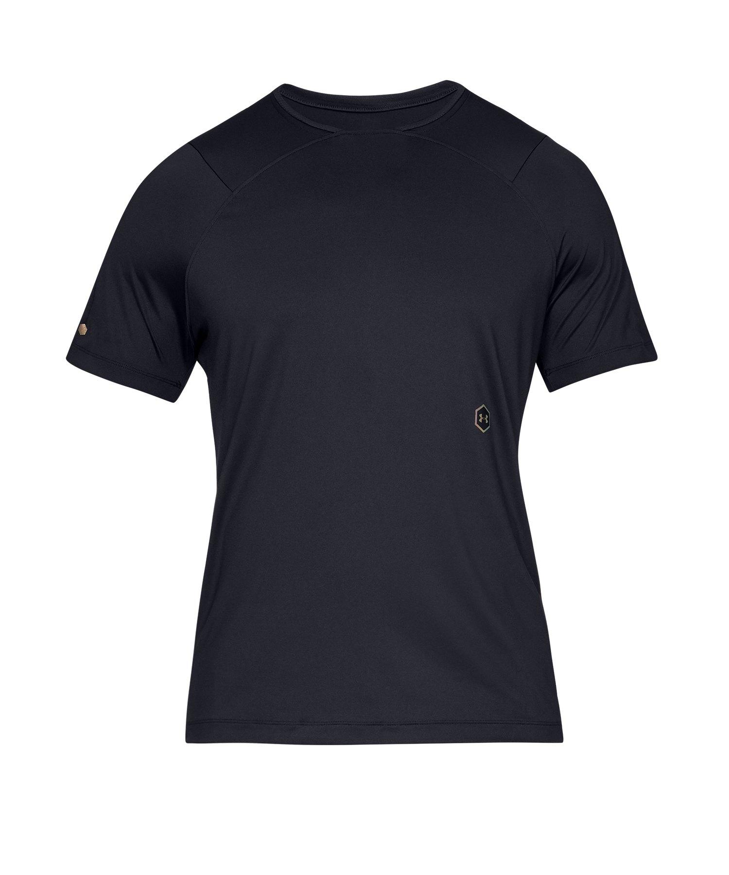 Under Armour Rush SS T-Shirt F001 - Schwarz