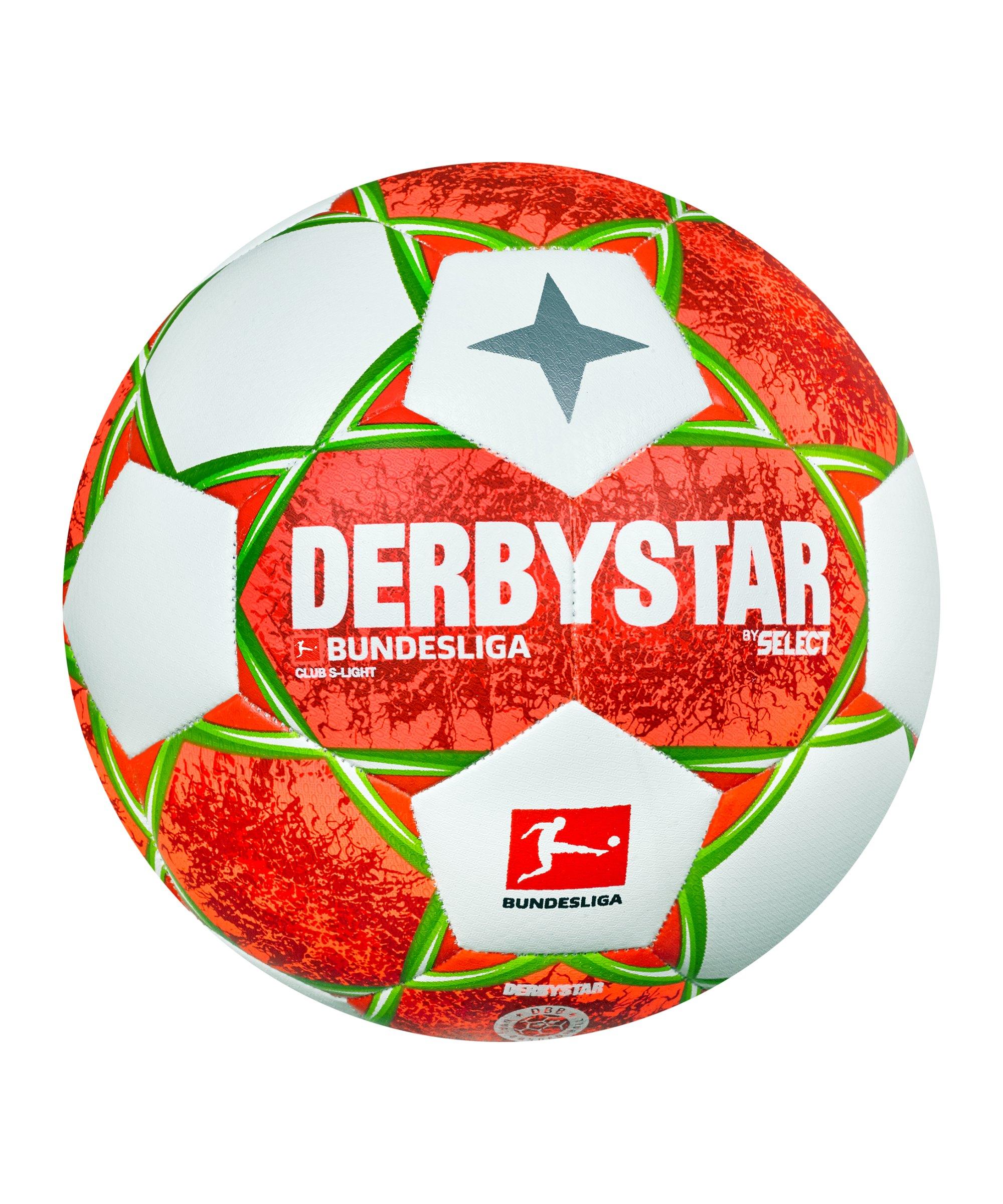 Derbystar Bundesliga Club S-Light v21 Trainingsball 290 Gr. 2021/2022 Grün Orange F021 - orange