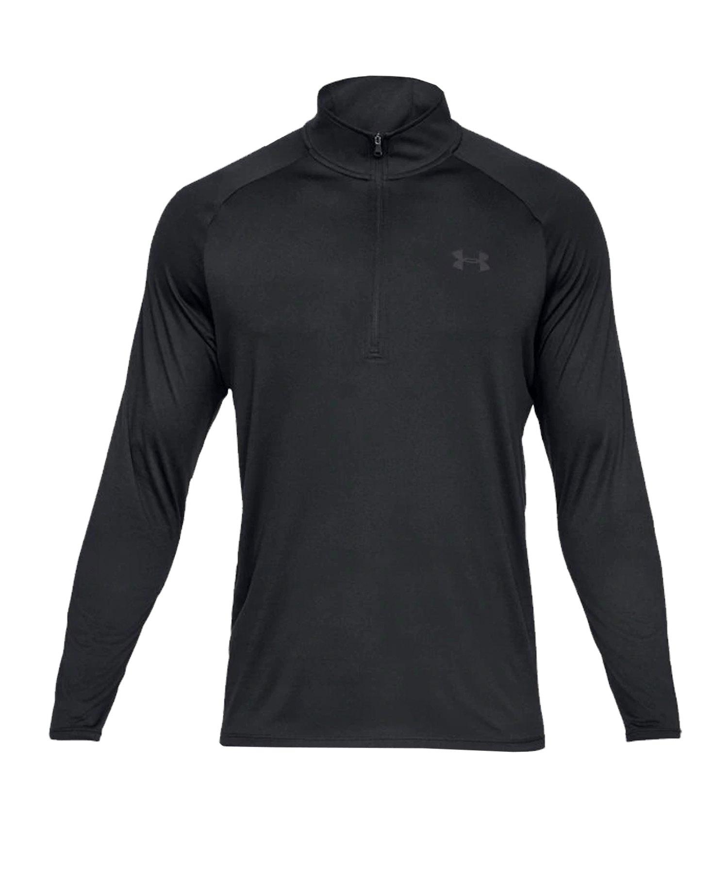 Under Armour Tech 1/2 Zip Shirt Schwarz F001 - schwarz
