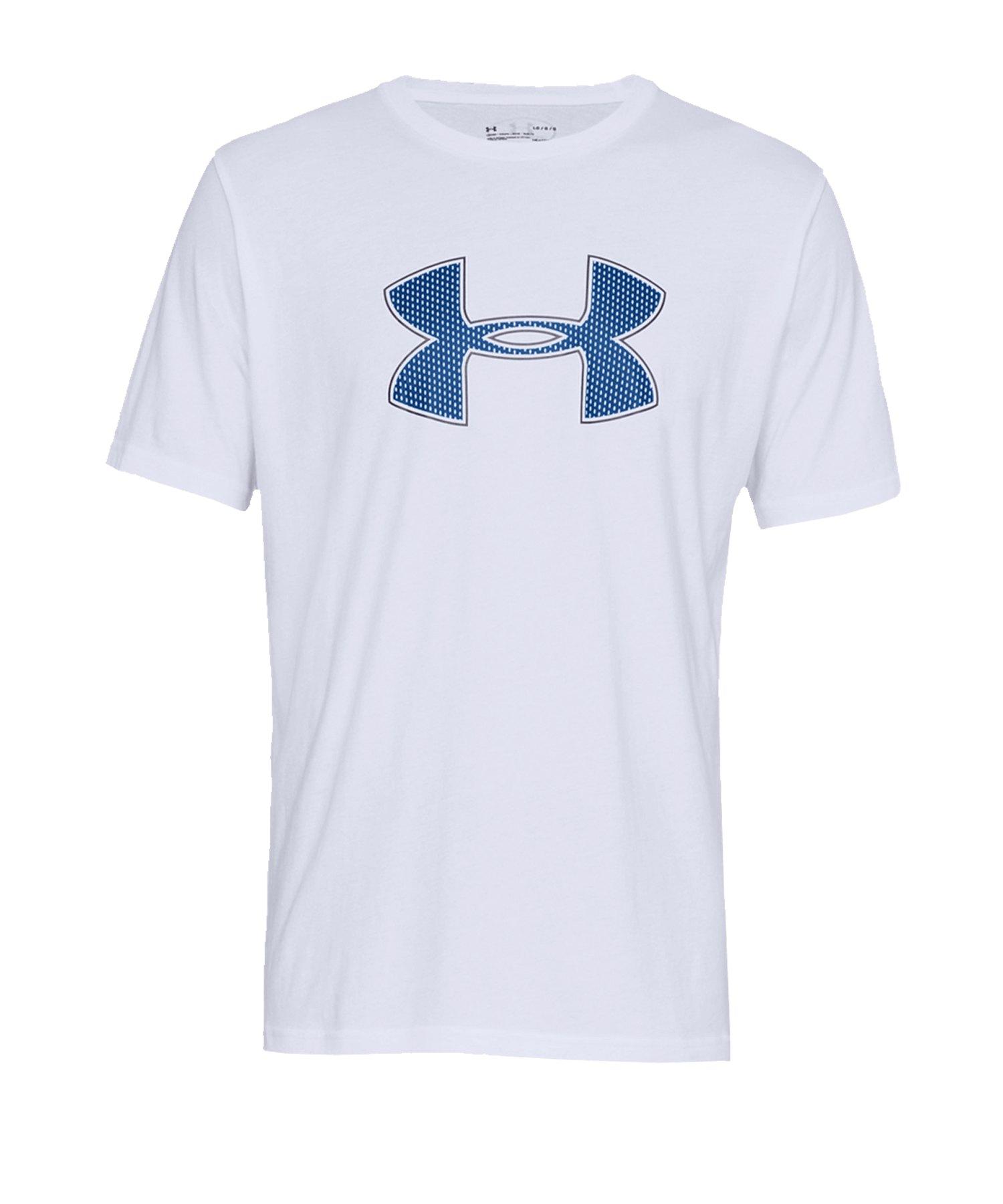 Under Armour Big Logo T-Shirt Weiss F100 - weiss