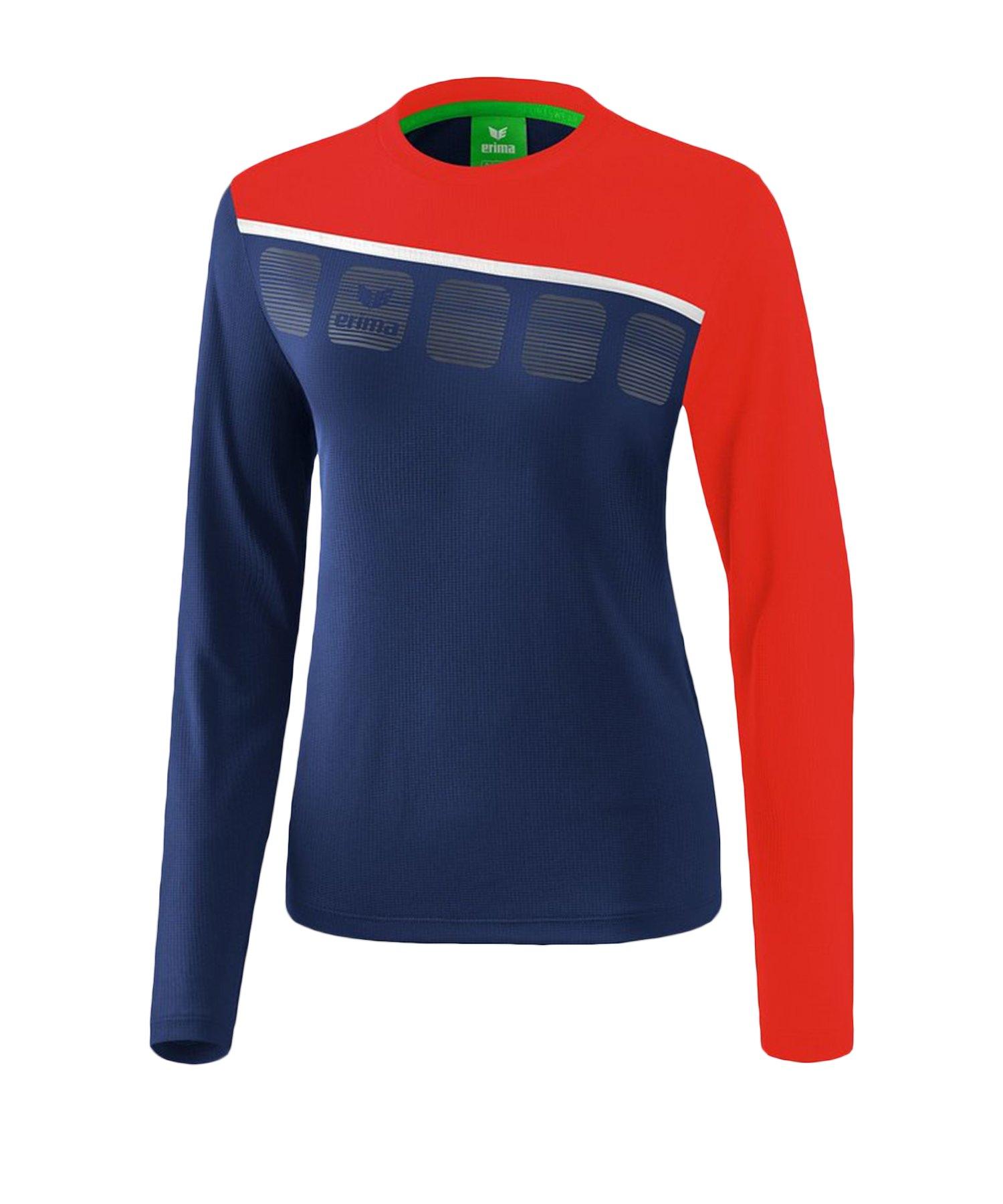 Erima 5-C Longsleeve Damen Blau Rot - Blau