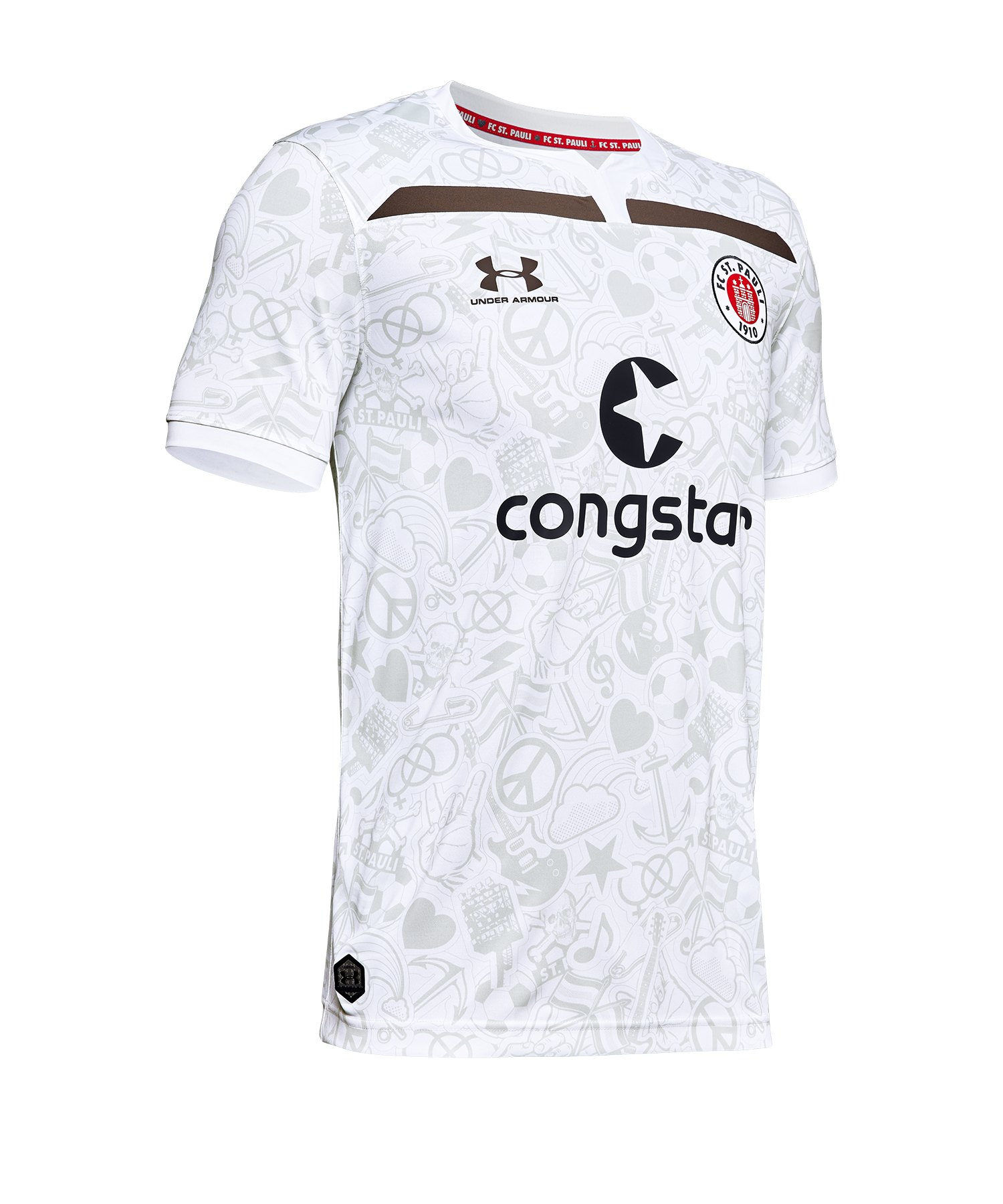 Under Armour St. Pauli Trikot Away 2019/2020 Kids F105 - Weiss