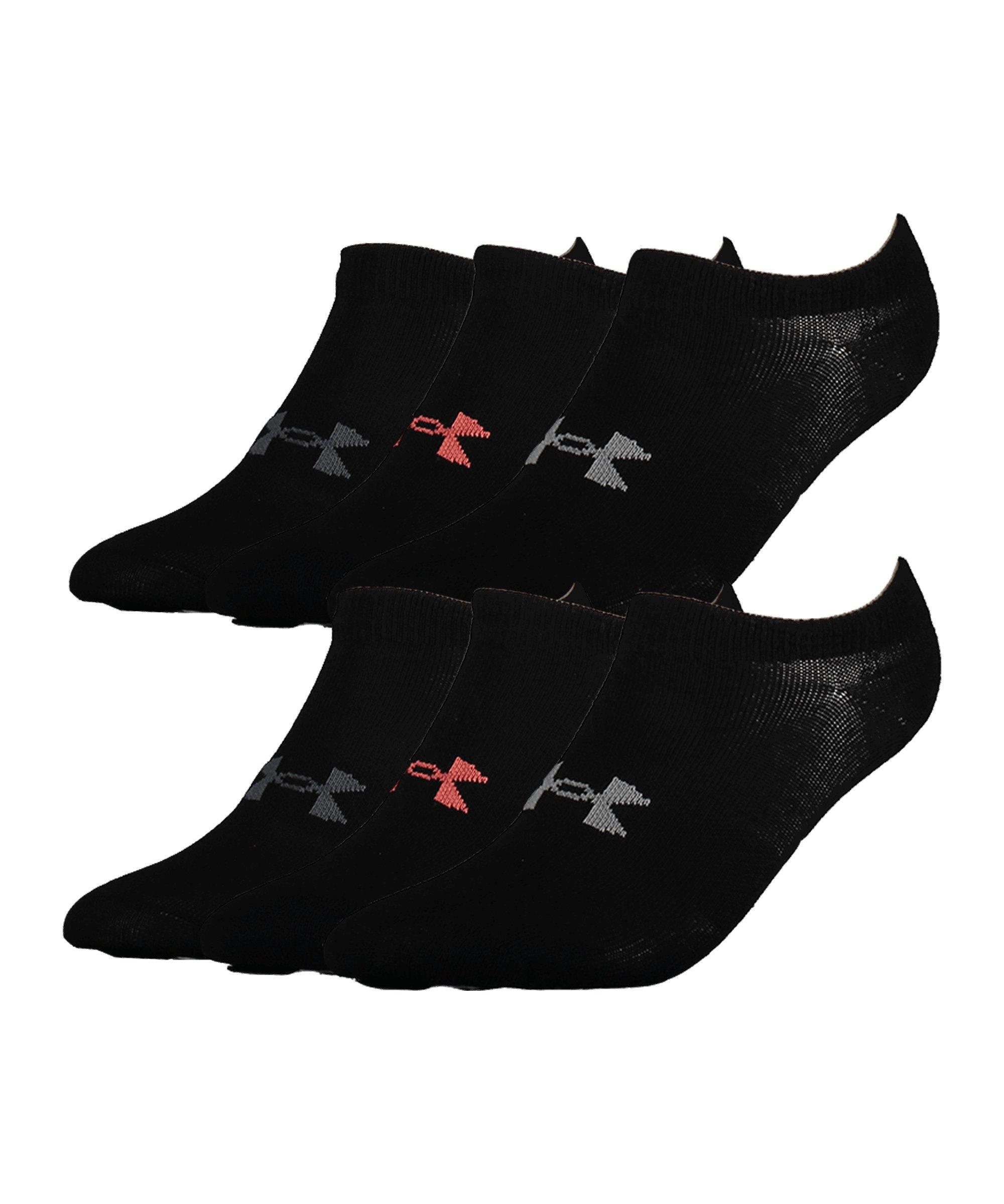 Under Armour Essentials 6er Pack Socken Damen F001 - schwarz