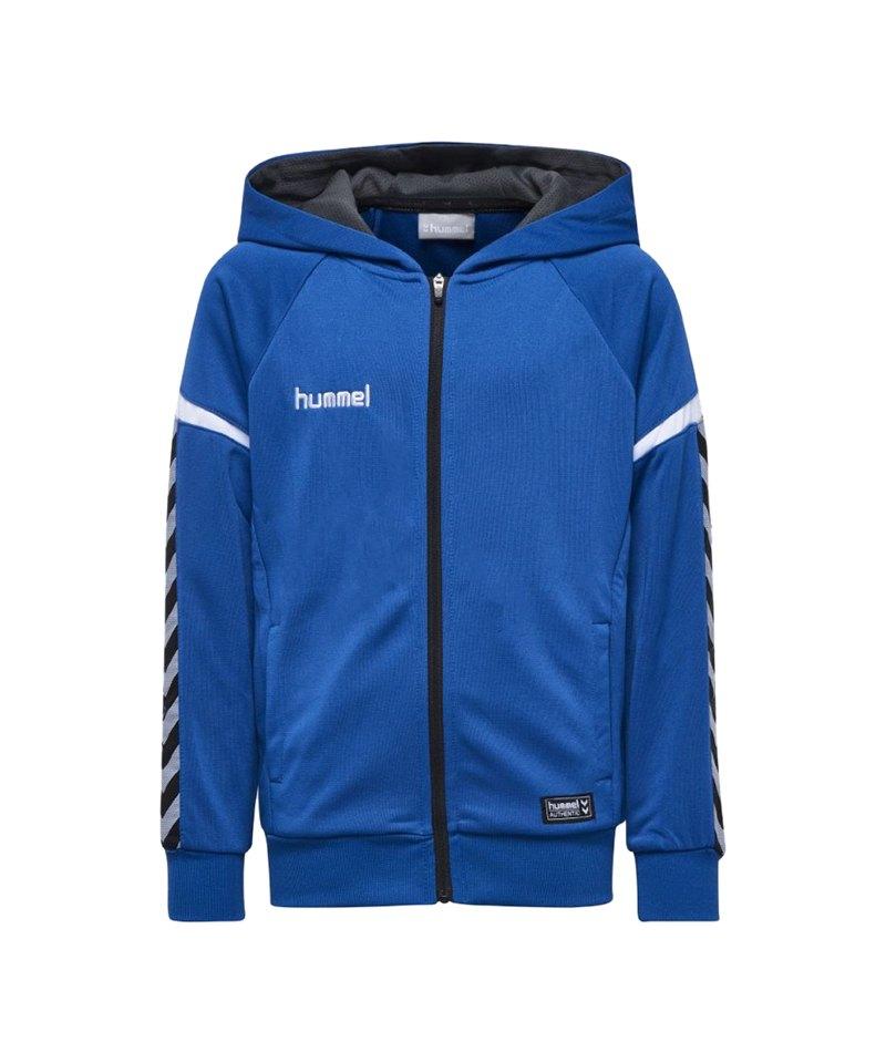 Hummel Authentic Charge Kapuzenjacke Kids F7045 - blau
