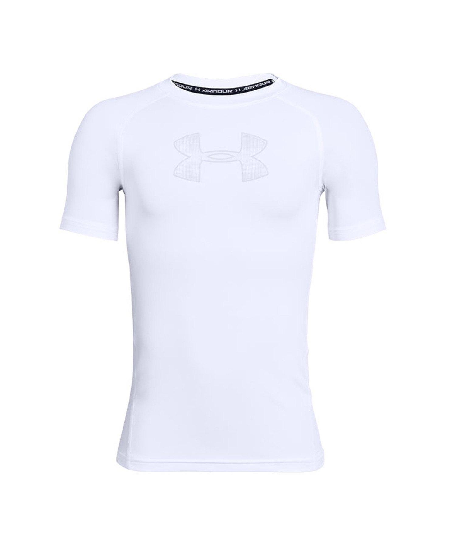 Under Armour HeatGear SL Shirt Kids Weiss F101 - weiss