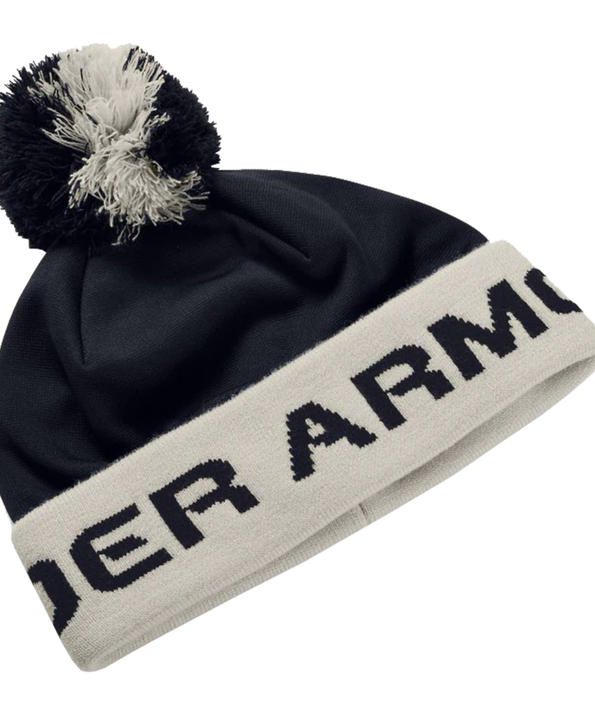 Under Armour Gametime Pom Beanie Kids Schwarz F002 - schwarz
