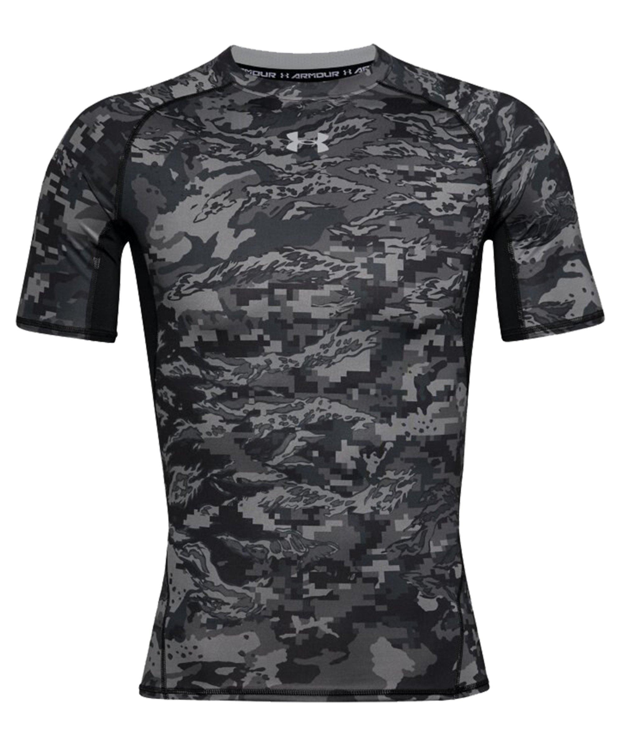Under Armour Heatgear Print T-Shirt Schwarz F003 - schwarz