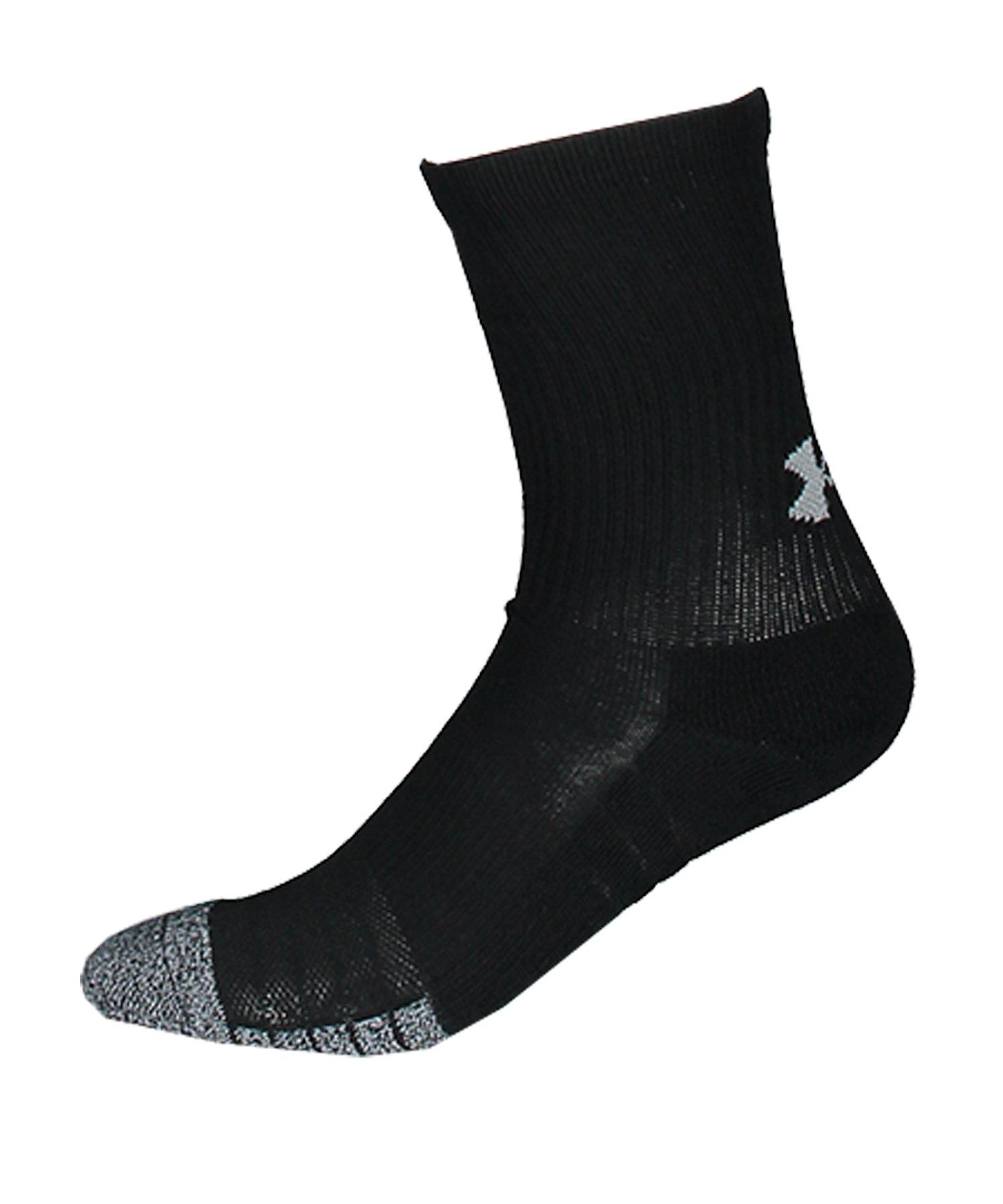Under Armour HeatGear Crew Socken Schwarz F001 - schwarz