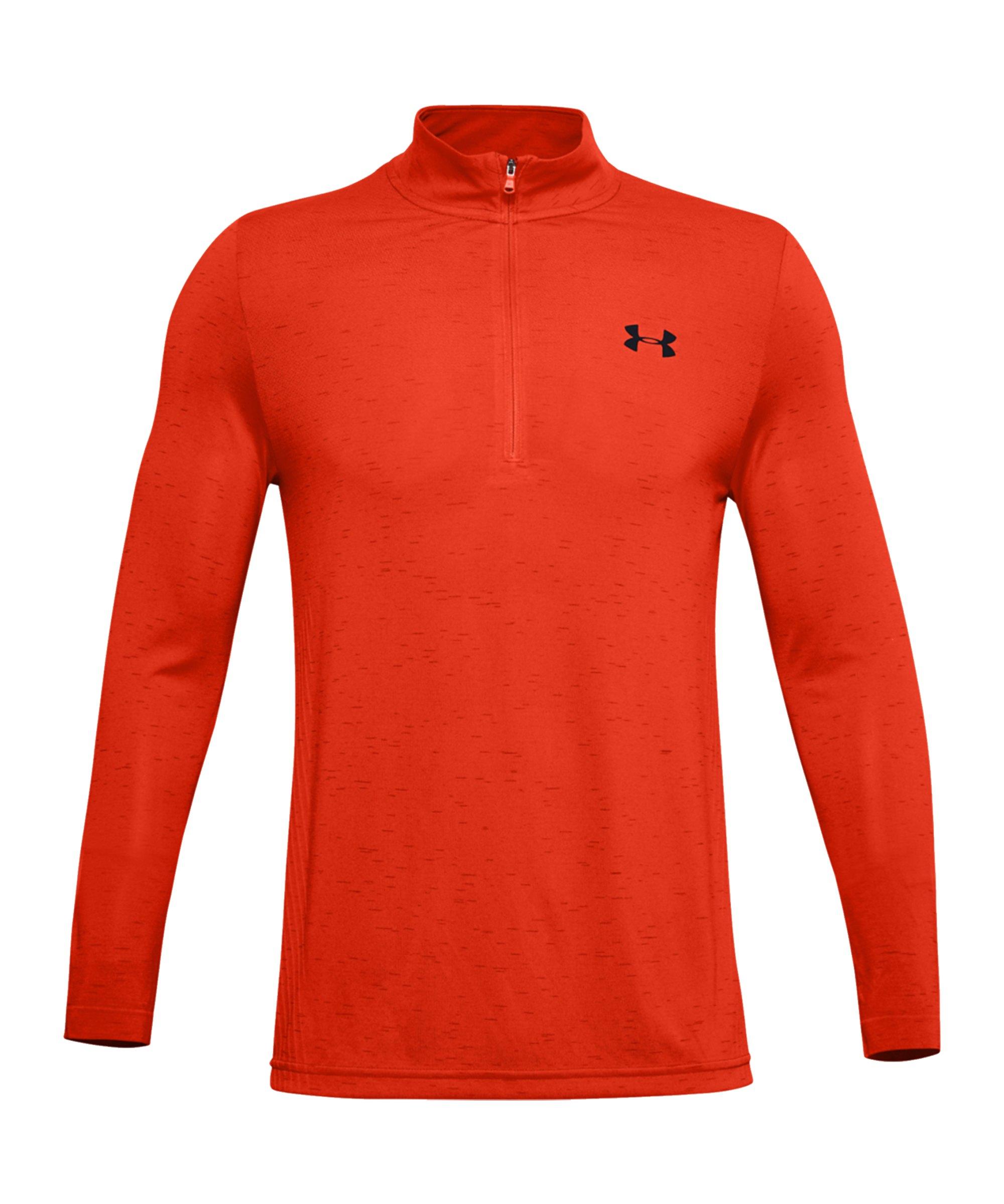 Under Armour Seamless 1/2 Zip Shirt Orange F856 - orange