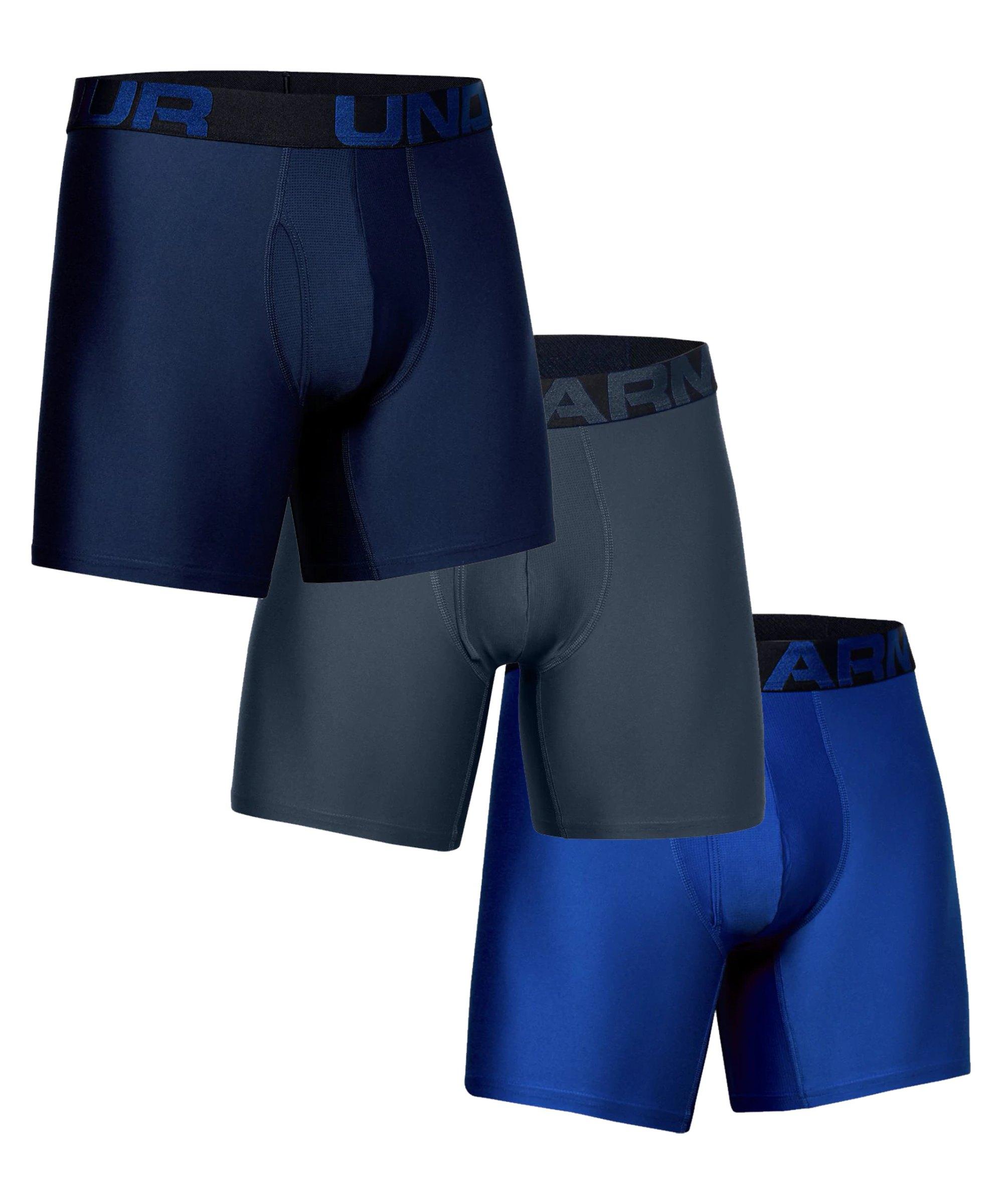 Under Armour Tech 6in Boxer Short 3er Pack F408 - blau