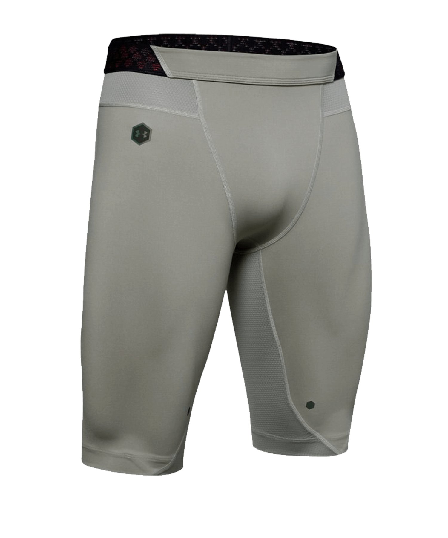 Under Armour HeatGear Rush Short Long Grau F388 - grau