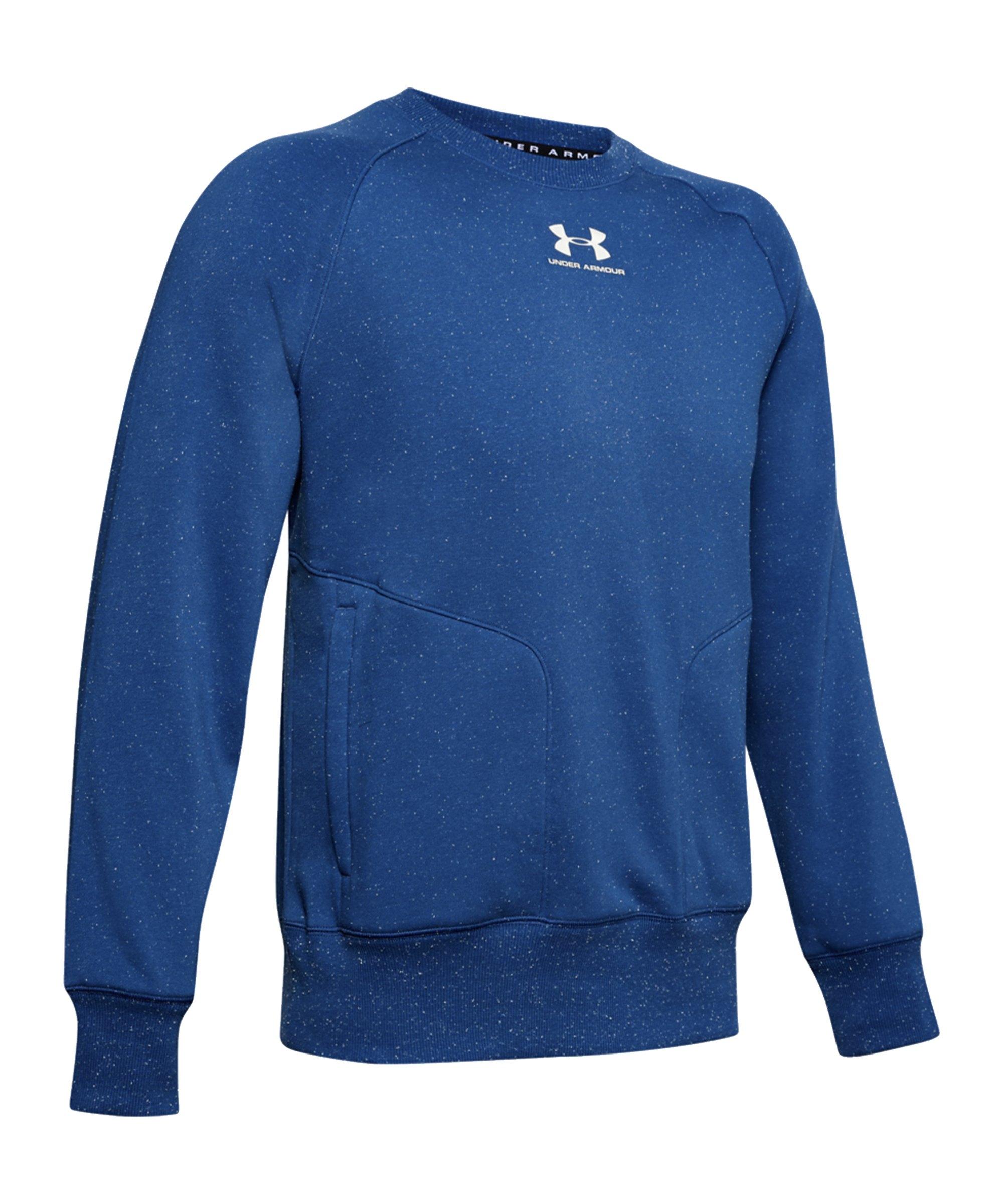 Under Armour Speckled Fleece Sweatshirt Blau F449 - blau