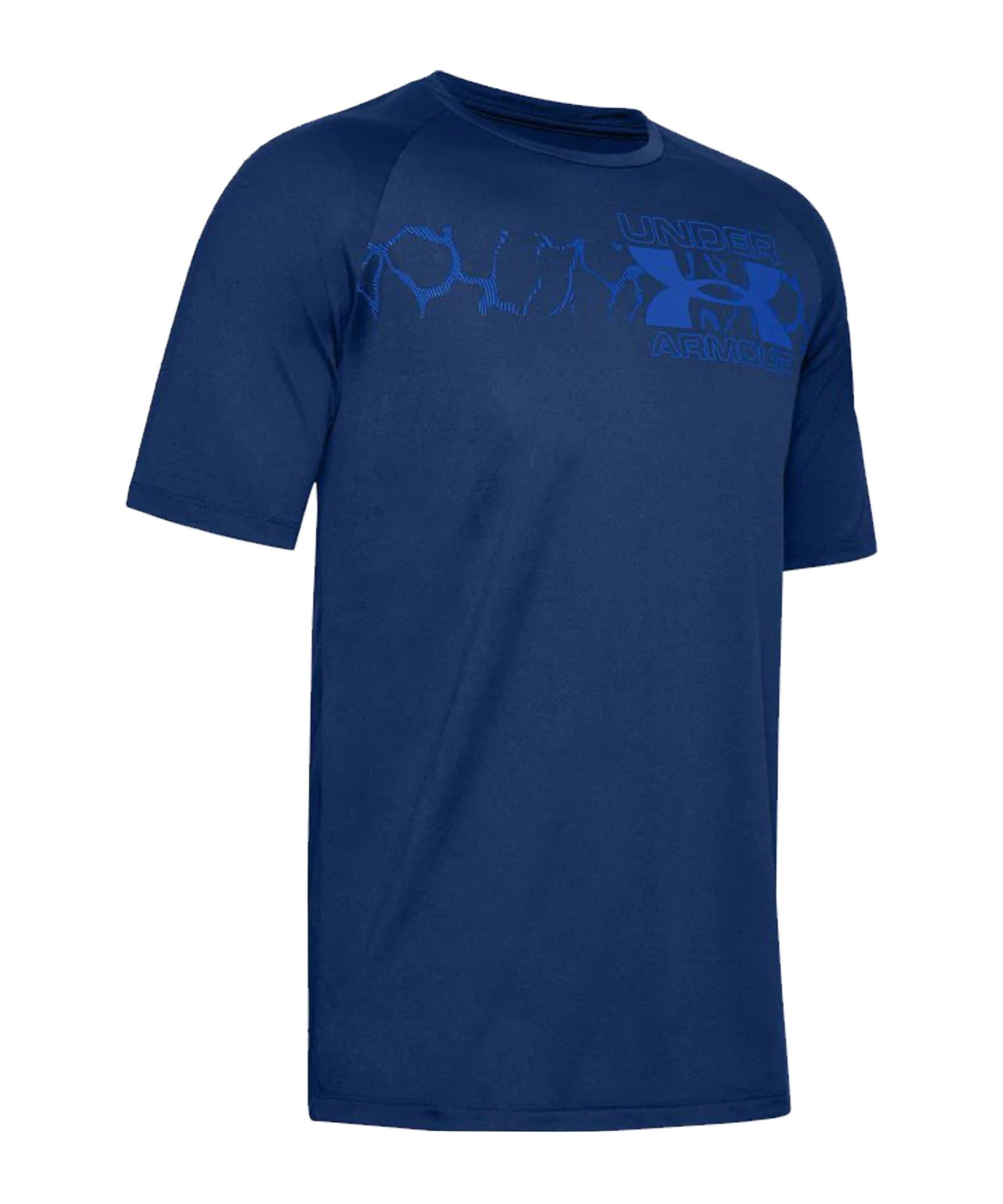 Under Armour Tech 2.0 Graphic T-Shirt Blau F449 - blau