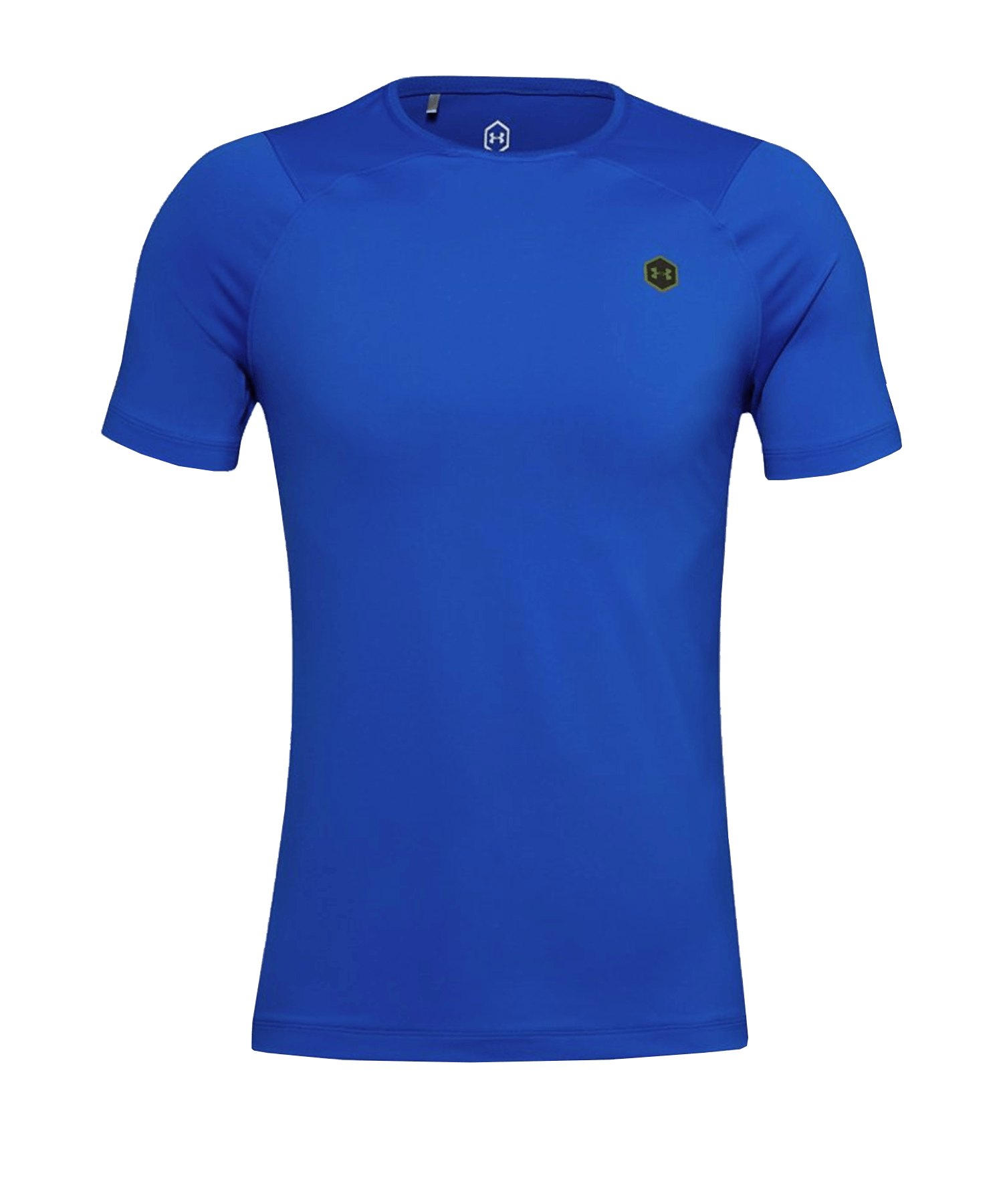 Under Armour HG Rush Fitted Shortsleeve F486 - blau