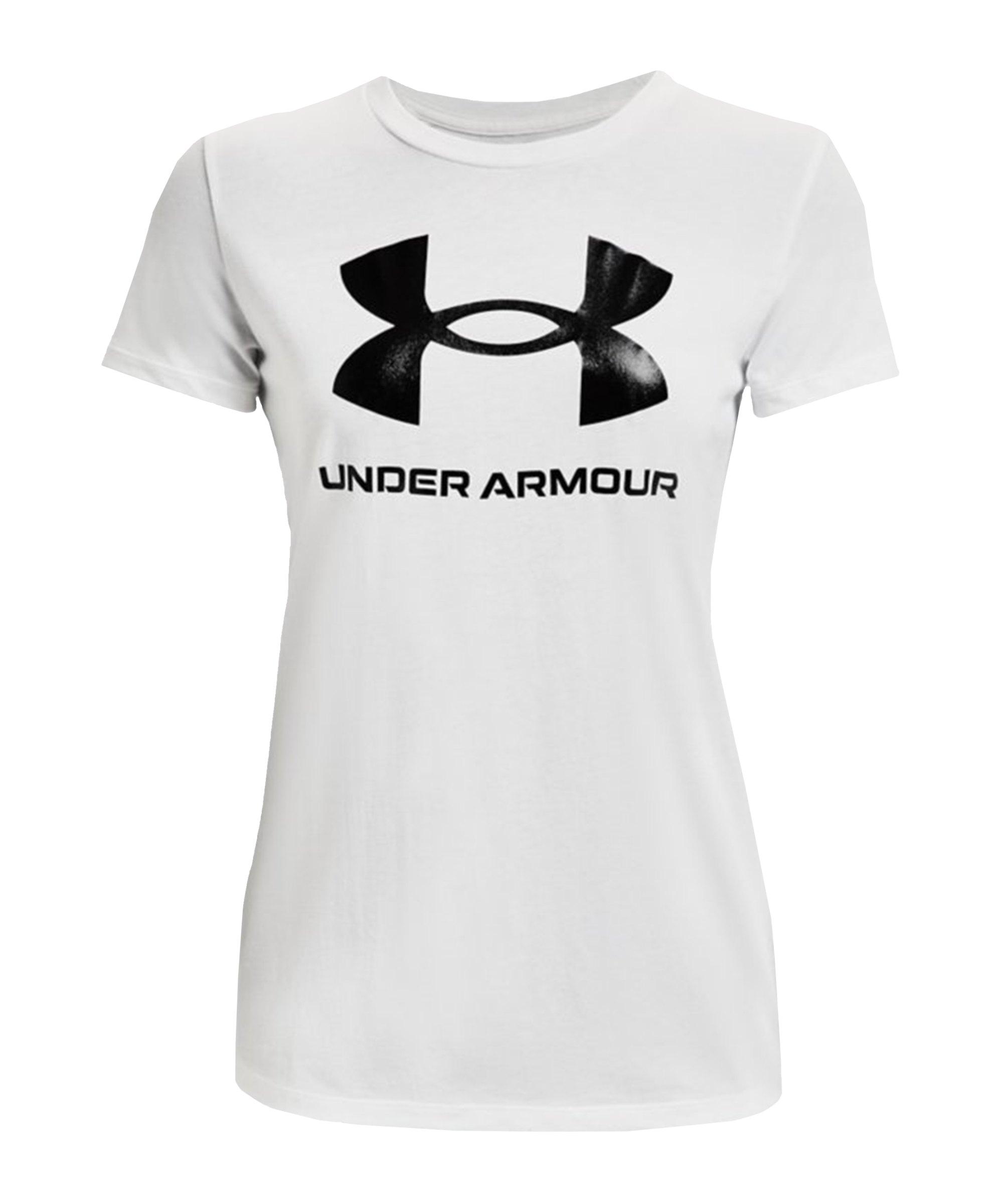 Under Armour Sportstyle Graphic T-Shirt Damen F102 - weiss