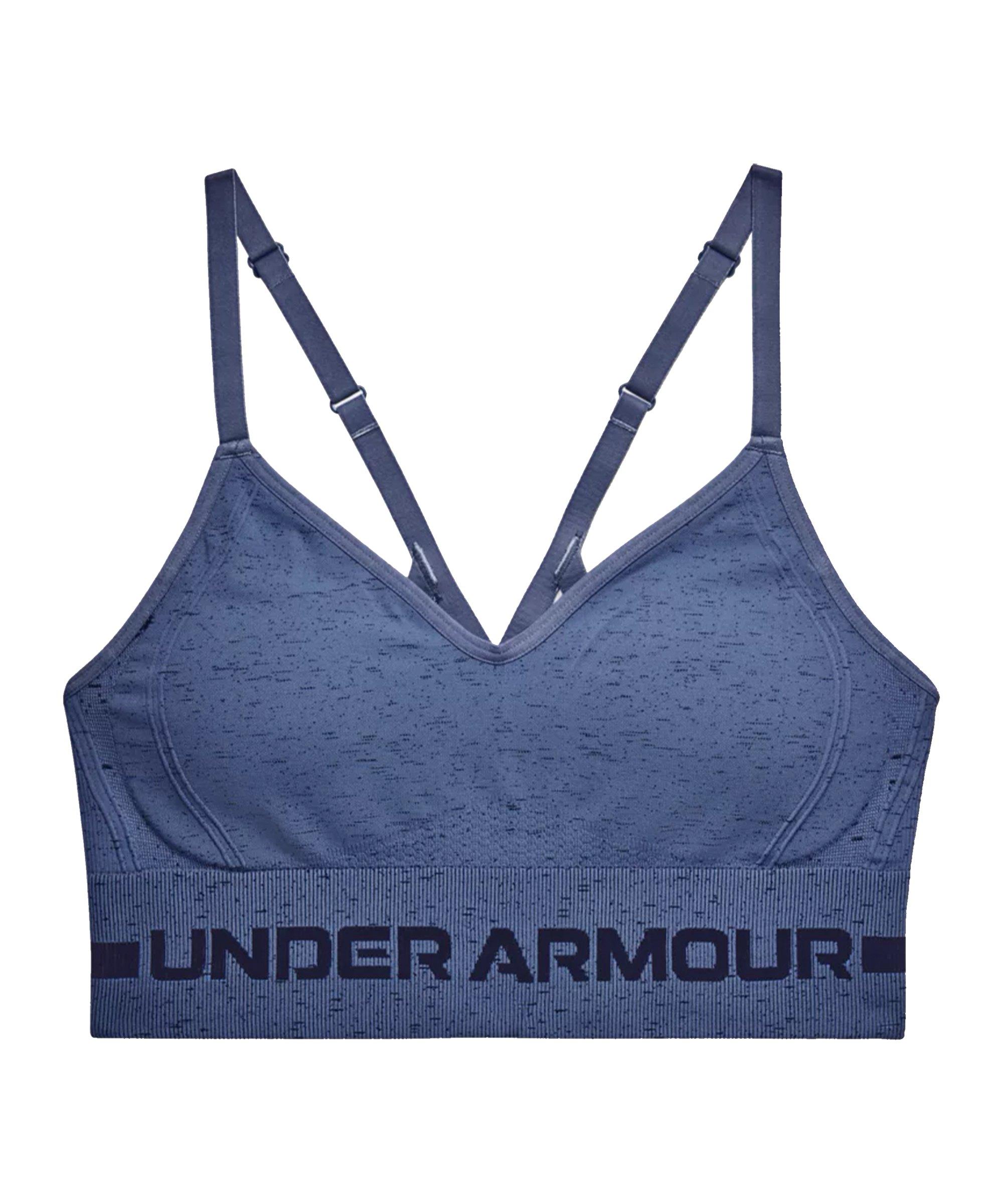 Under Armour Seamless Low Long Sport-BH Damen F470 - blau