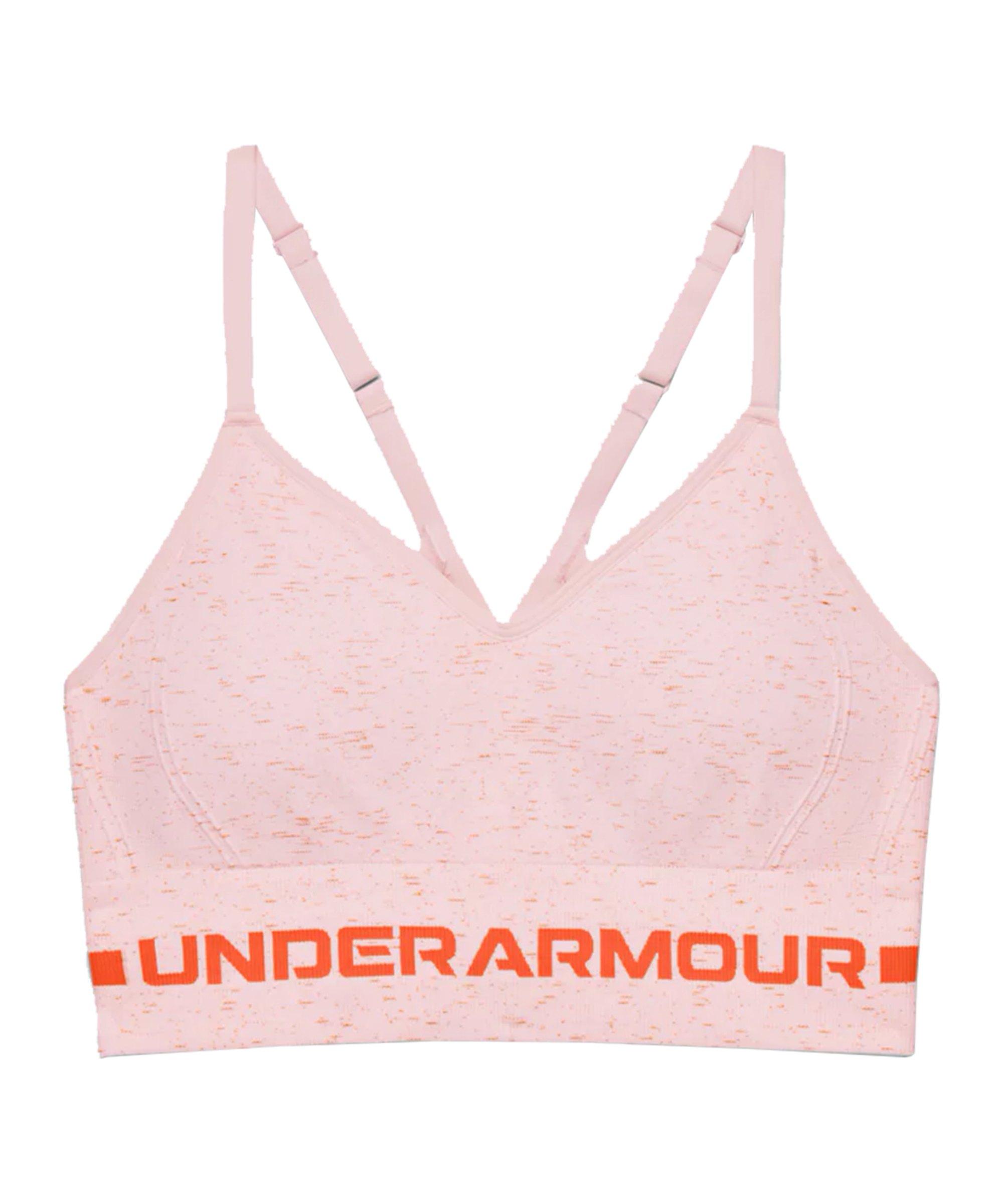 Under Armour Seamless Low Long Sport-BH Damen F659 - pink