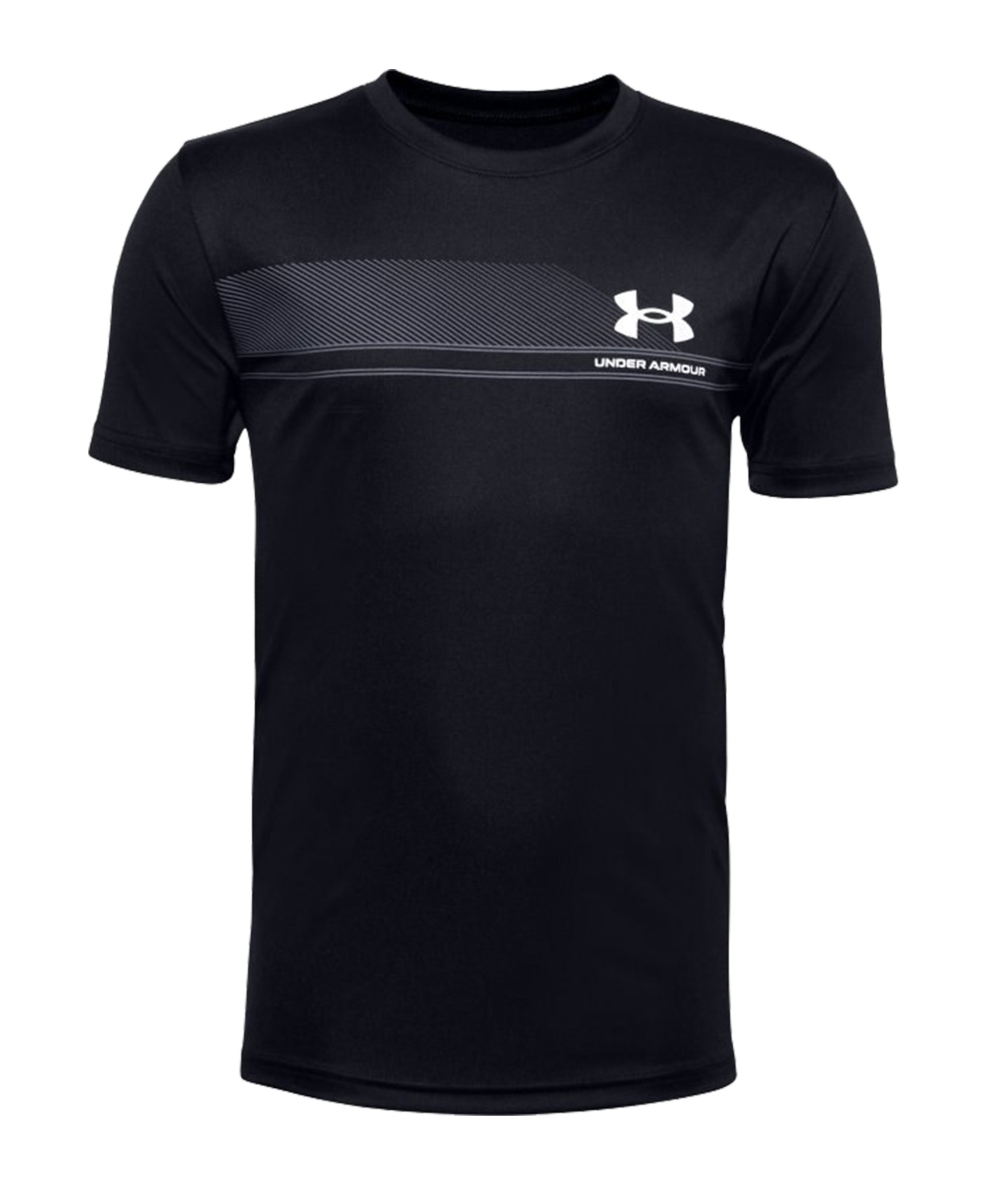 Under Armour Tech Lockup T-Shirt Kids F001 - schwarz