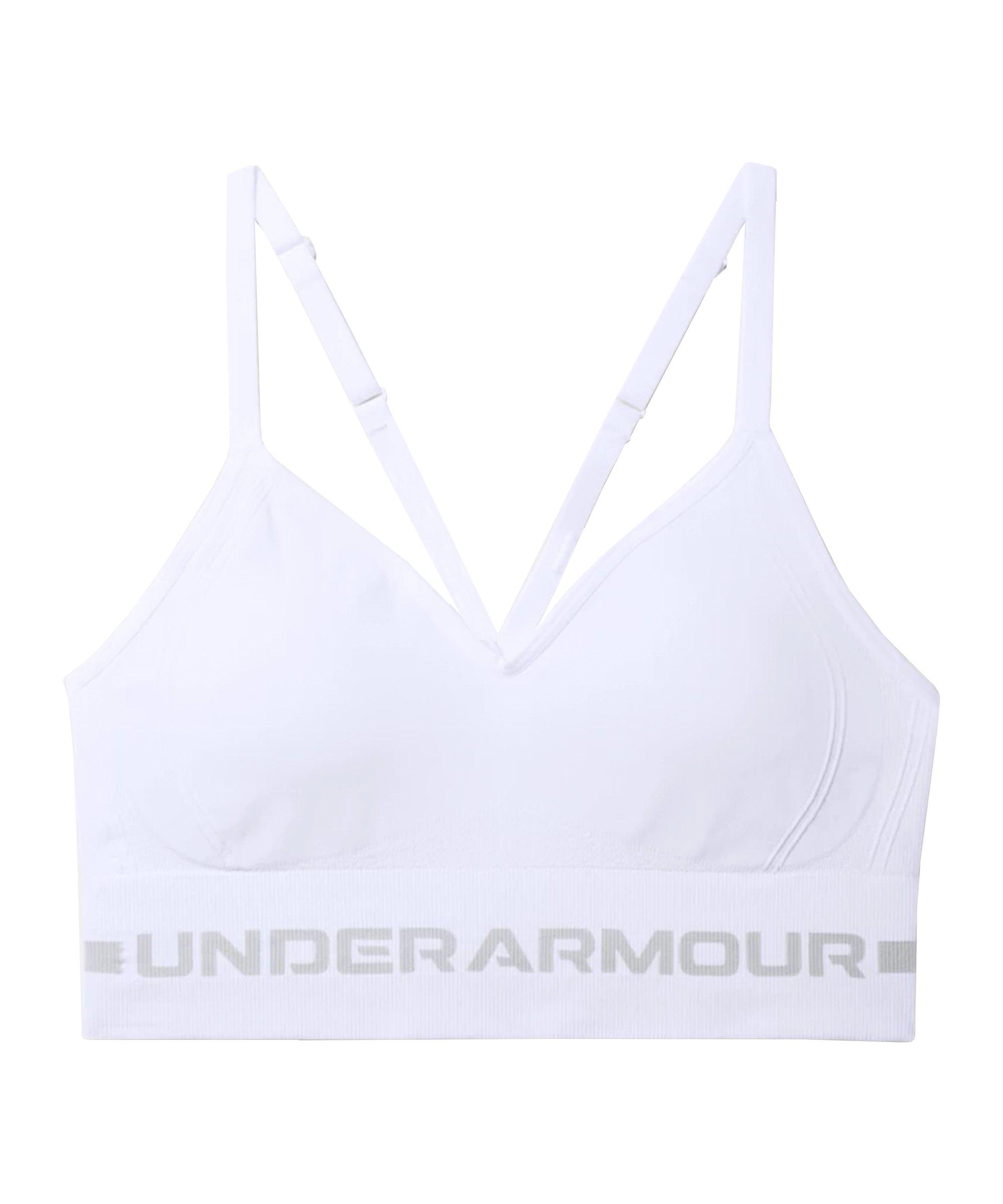 Under Armour Seamless Low Long Sport-BH Damen F100 - weiss