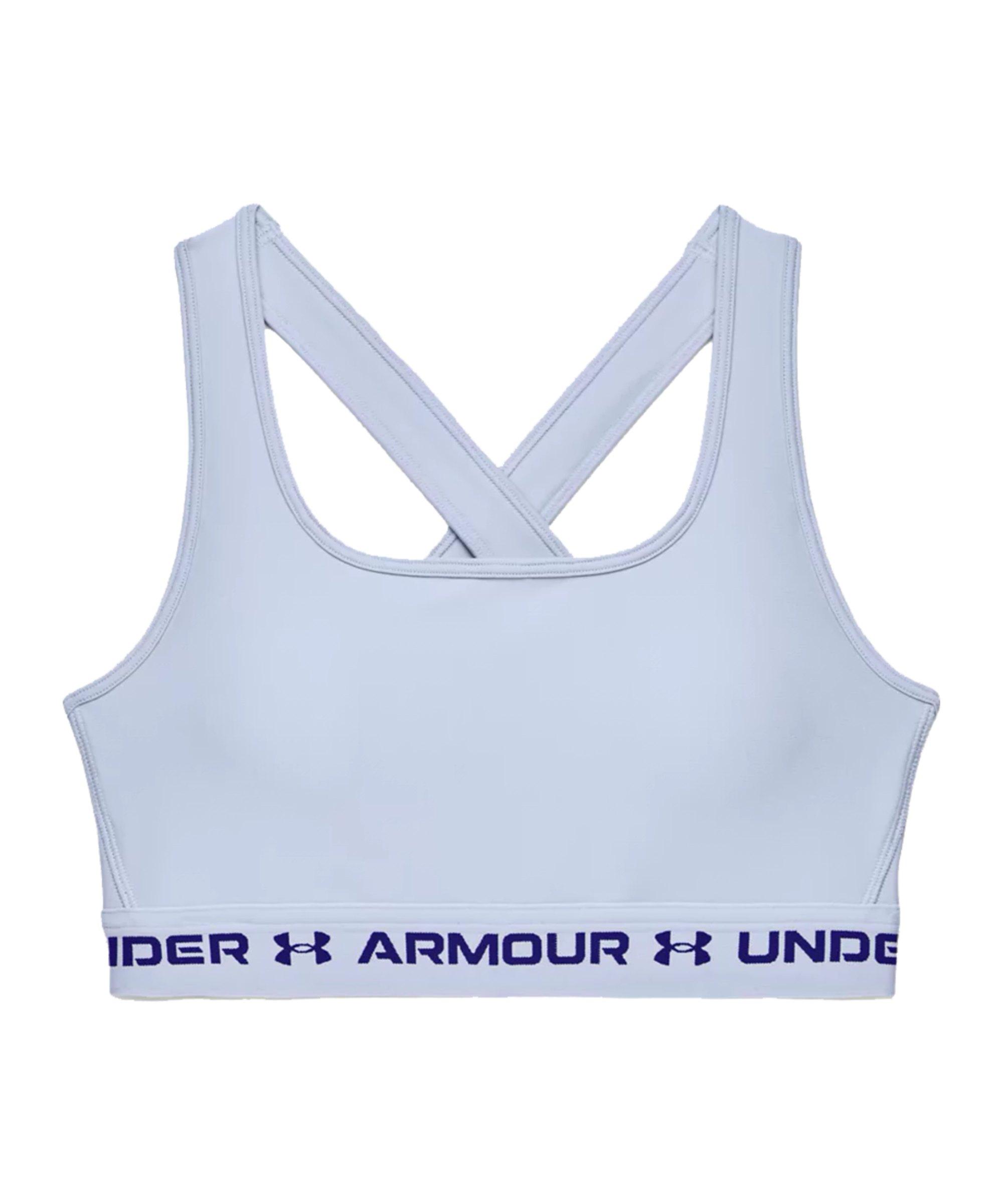 Under Armour Crossback Mid Sport-BH Damen F438 - blau