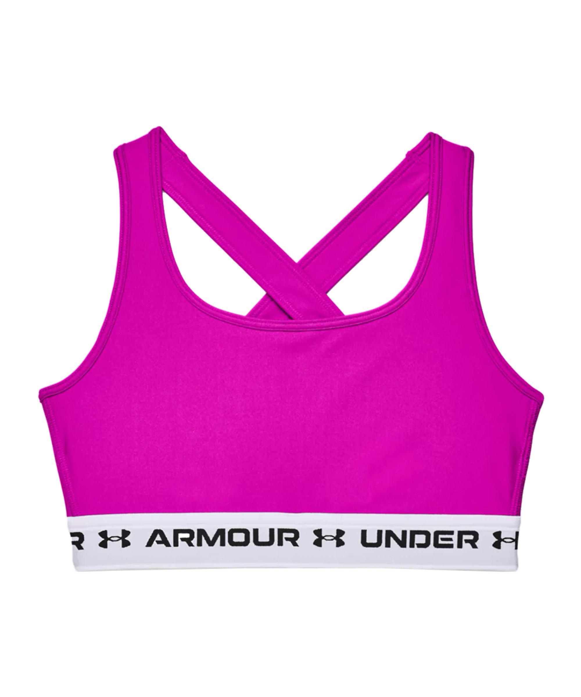 Under Armour Crossback Mid Sport-BH Damen F660 - pink
