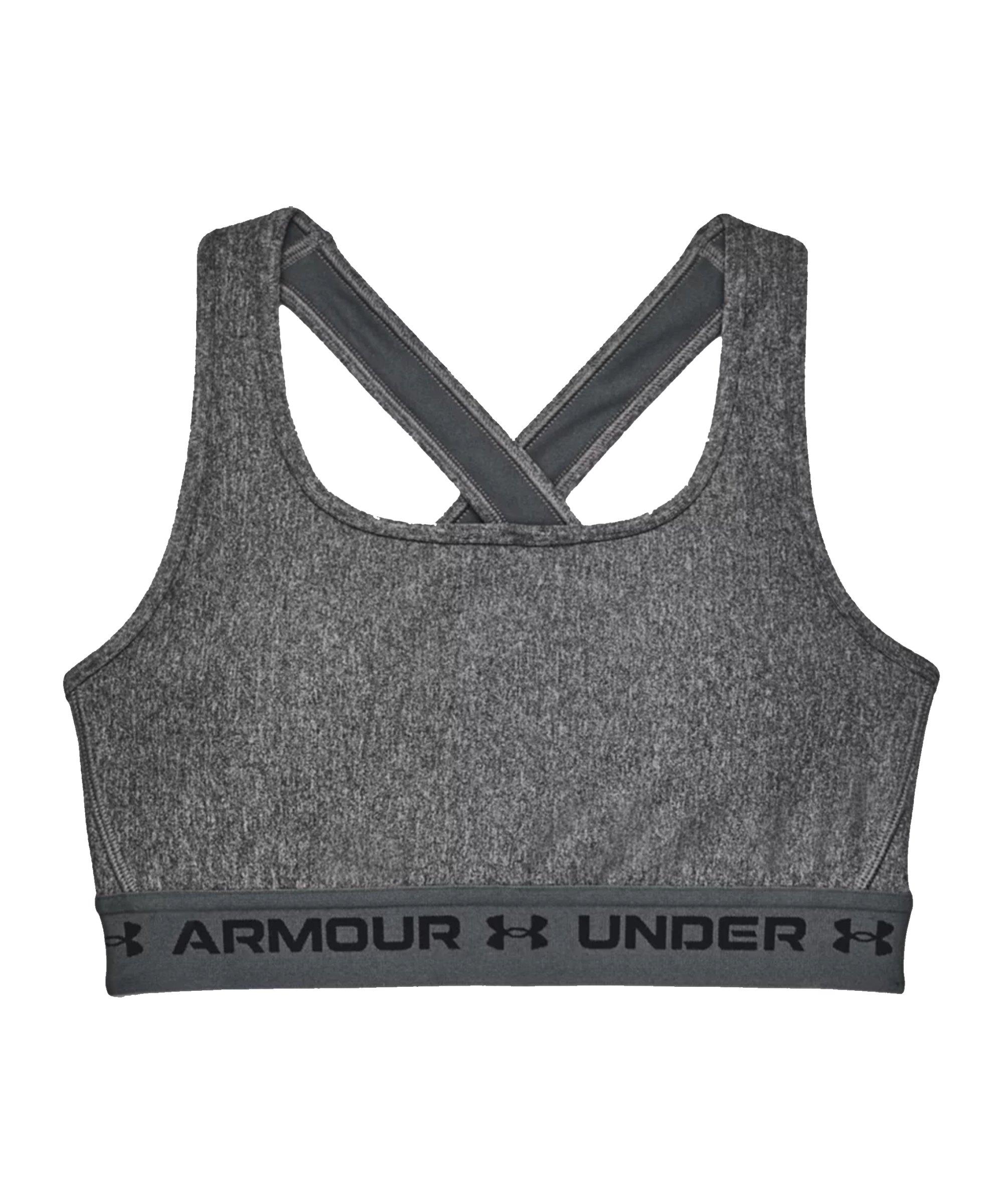 Under Armour Crossback Mid Sport-BH Damen F019 - grau