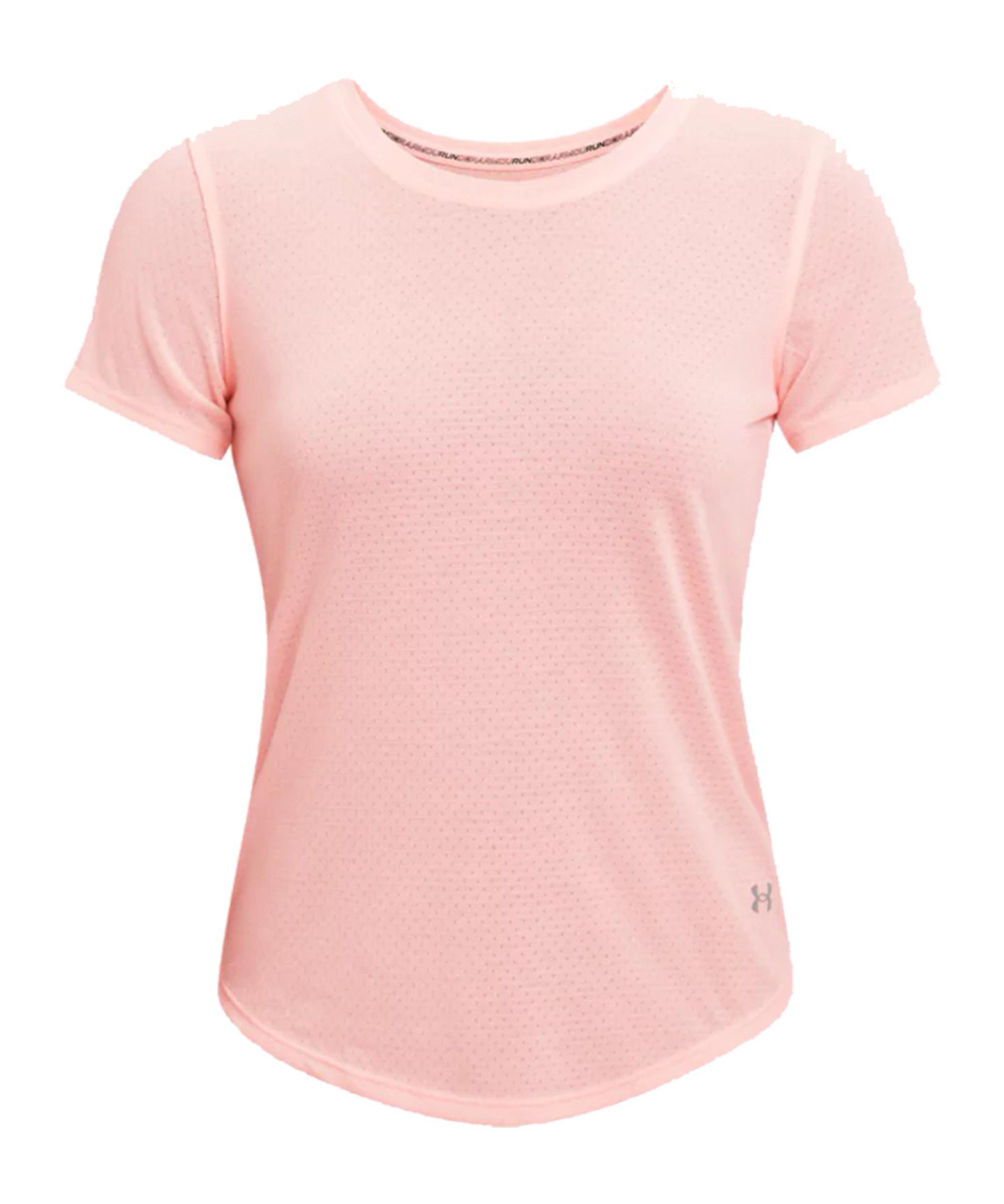 Under Armour Streaker T-Shirt Running Damen F658 - pink