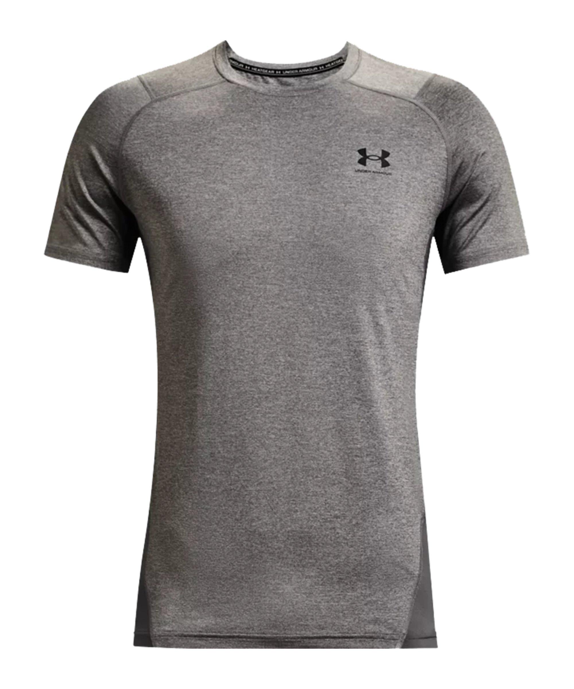 Under Armour HG Fitted T-Shirt Grau F090 - grau