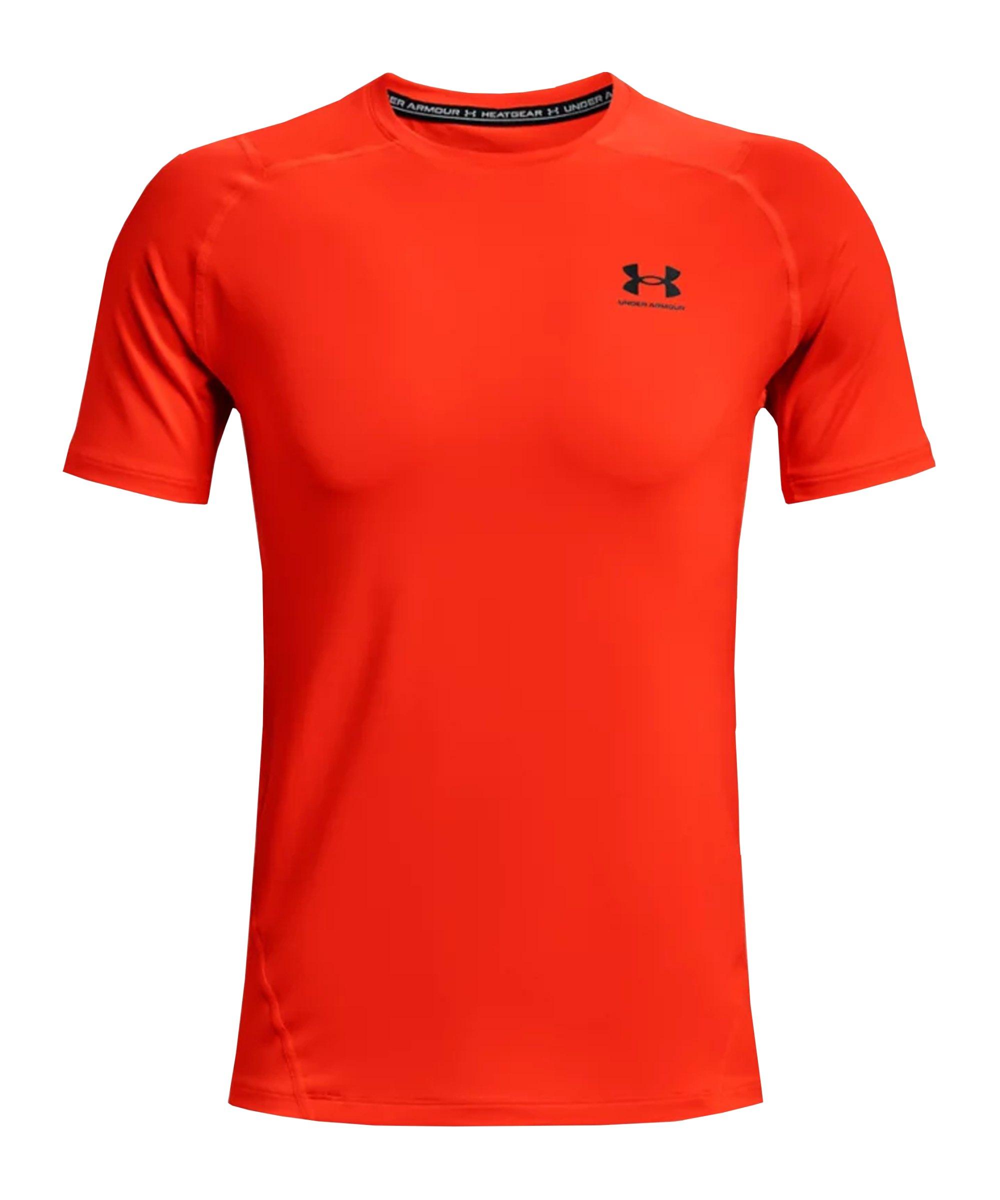 Under Armour HG Fitted T-Shirt Orange F296 - orange