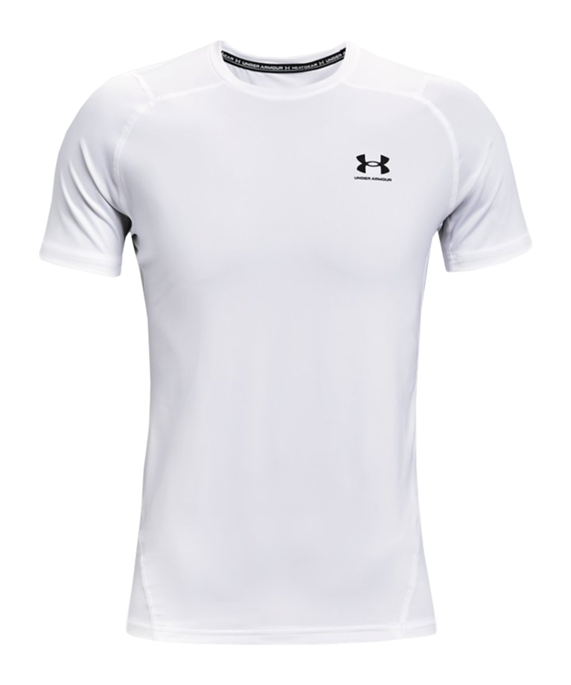 Under Armour HG Fitted T-Shirt Weiss F100 - weiss