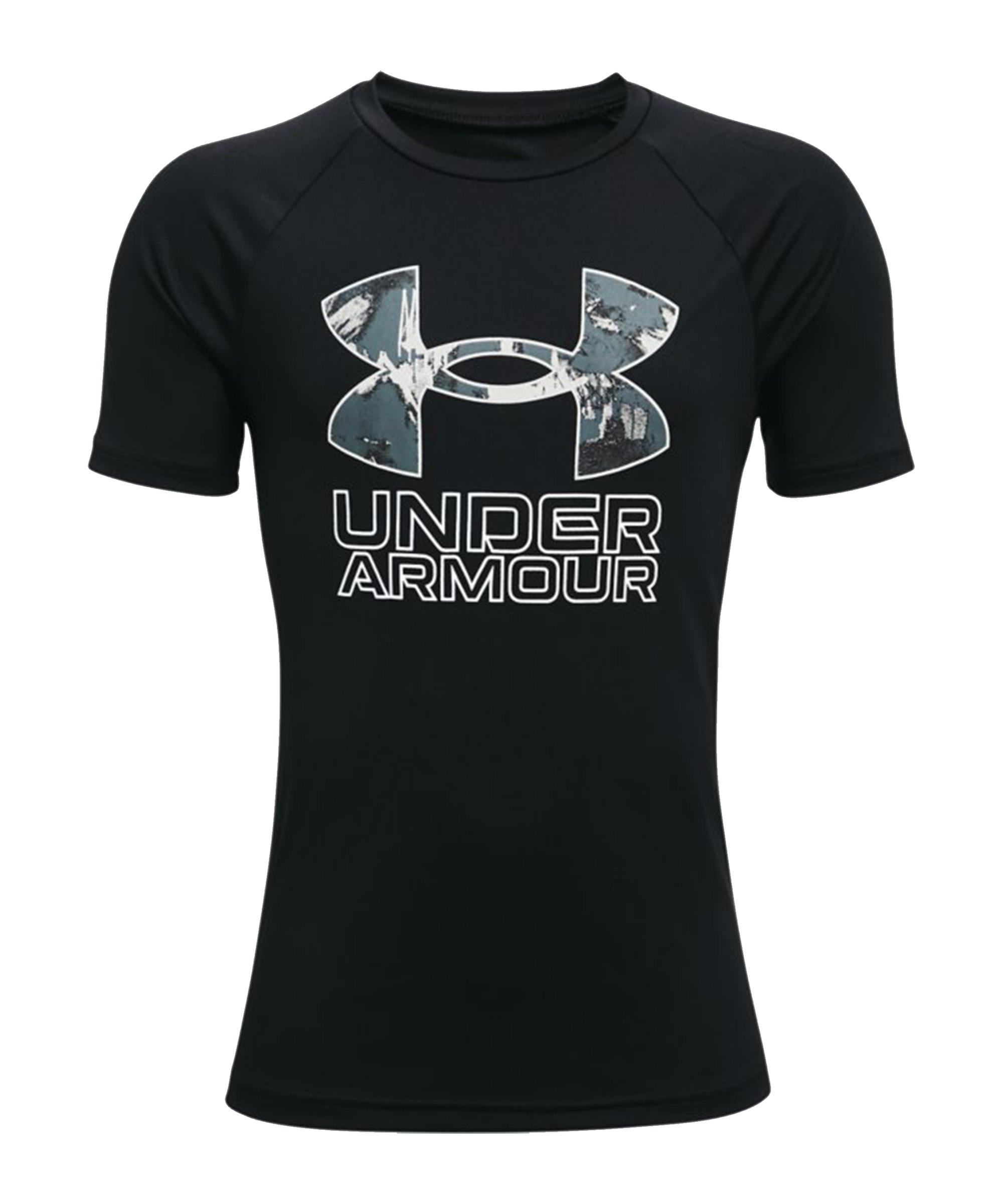 Under Armour Tech Hybrid Print T-Shirt Kids F001 - schwarz