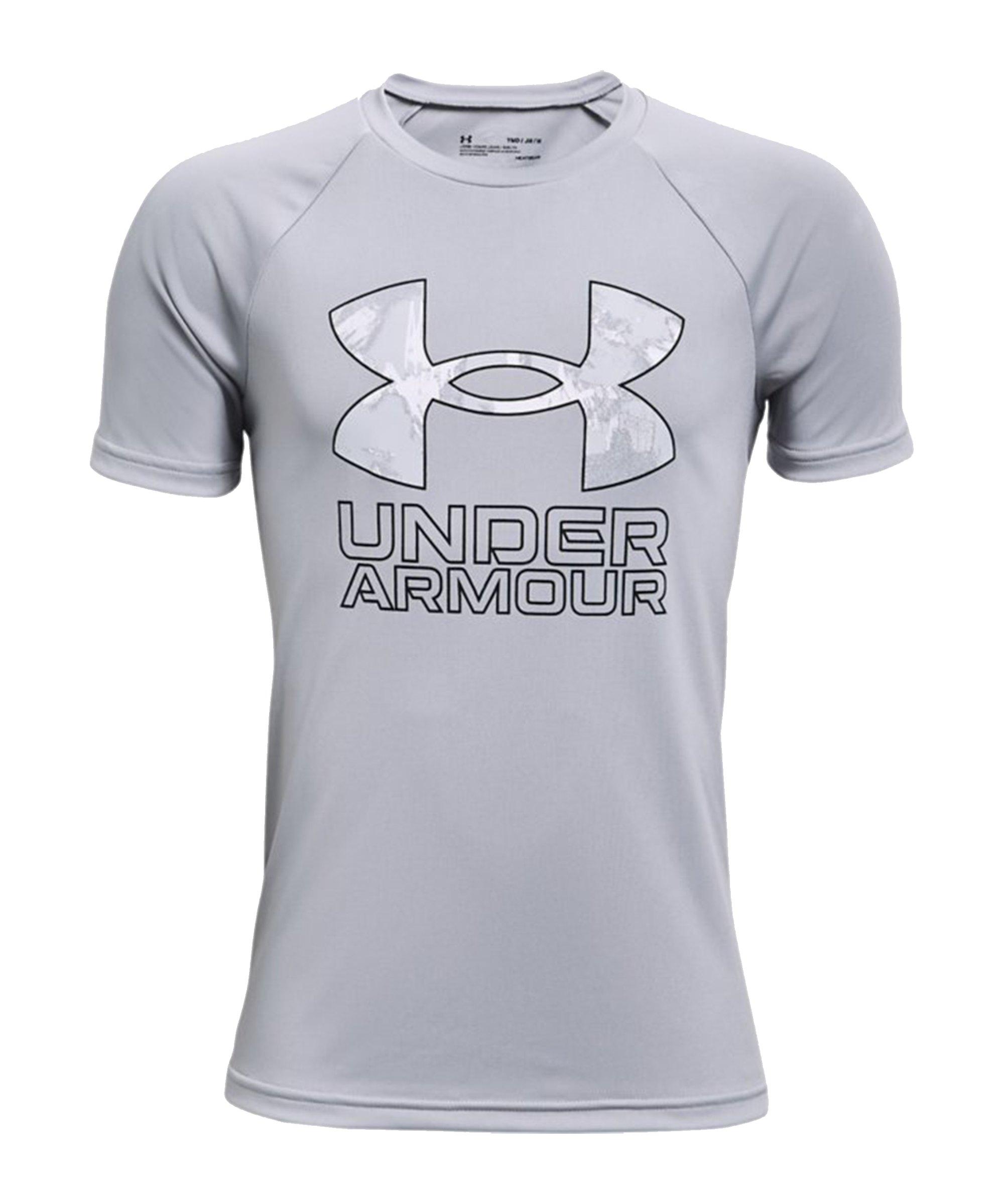 Under Armour Tech Hybrid Print T-Shirt Kids F011 - grau