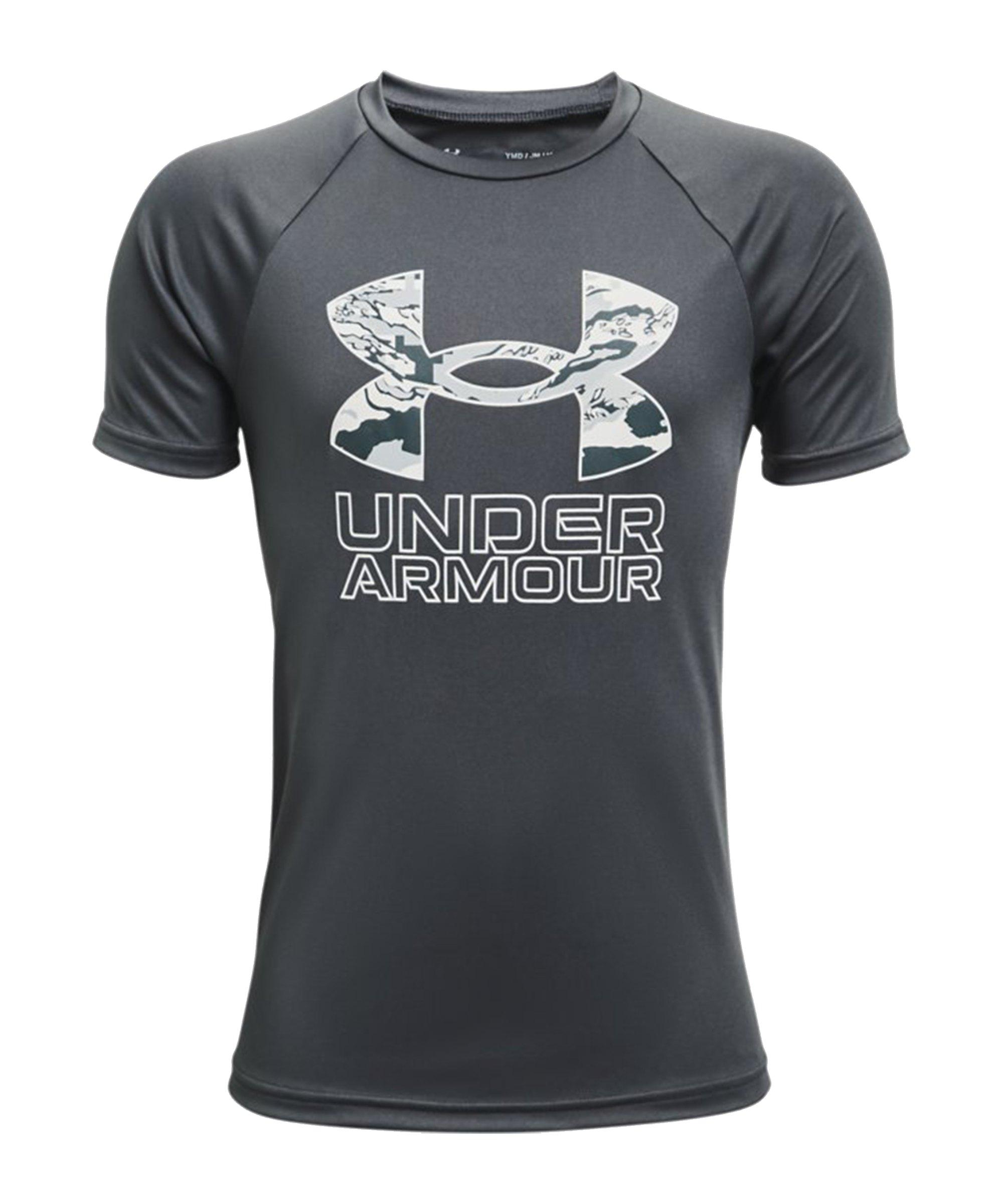Under Armour Tech Hybrid Print T-Shirt Kids F012 - grau