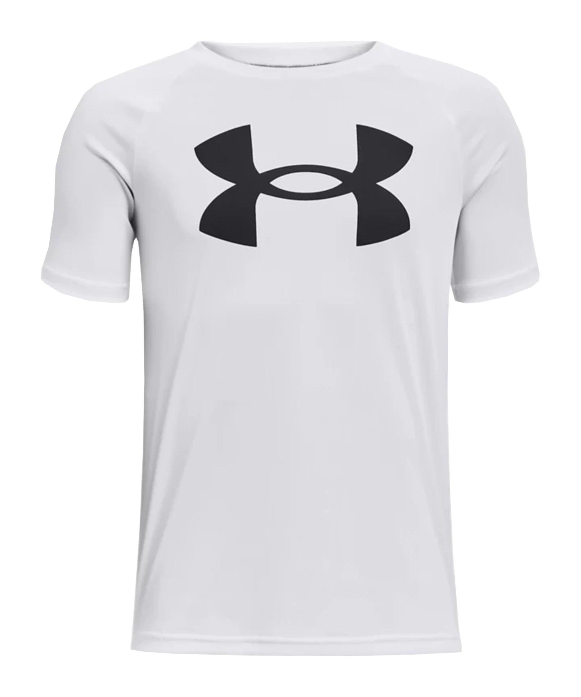 Under Armour Tech Big Logo T-Shirt Kids Weiss F100 - weiss