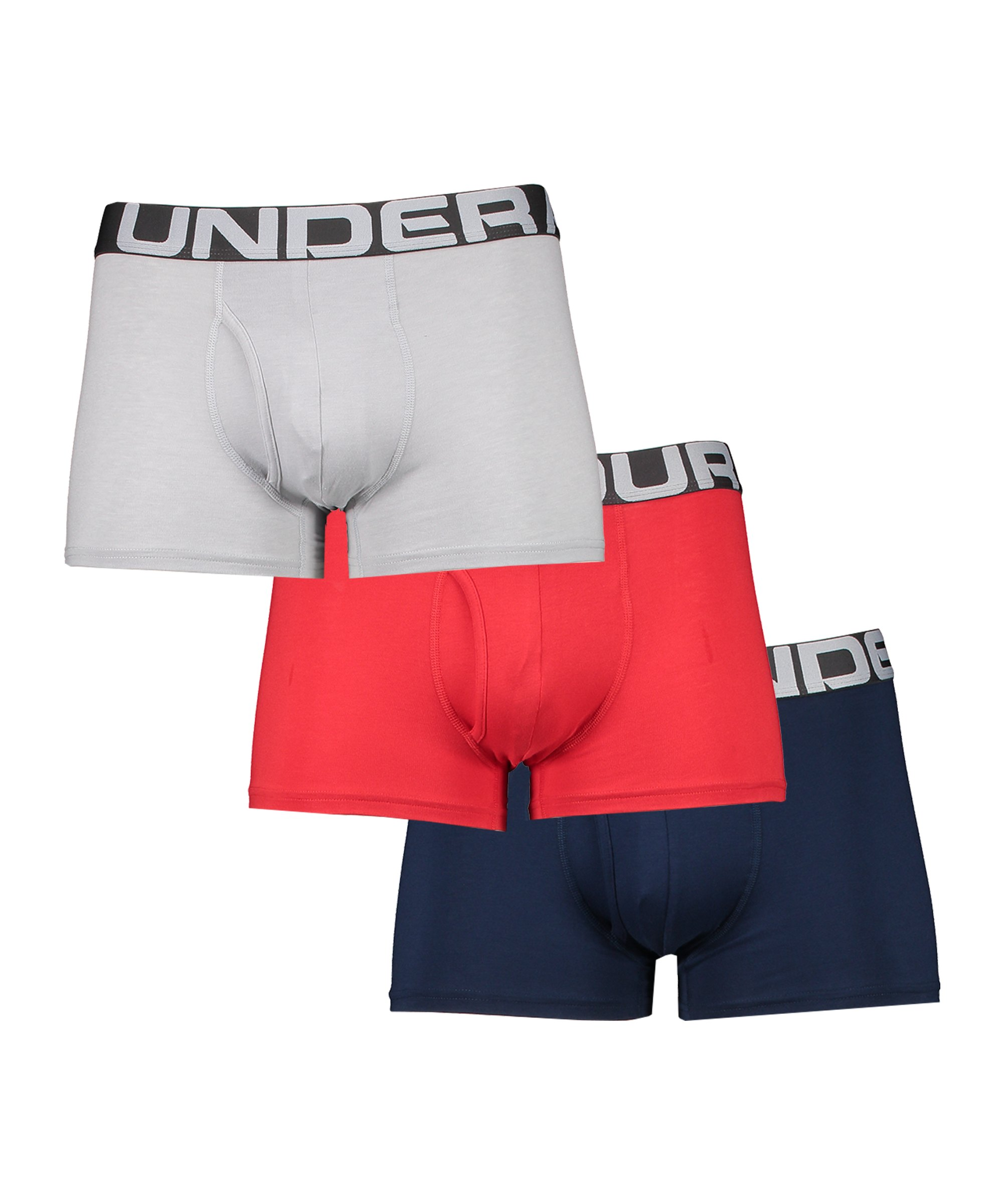 Under Armour Charged Boxer 3in 3er Pack Rot F600 - rot