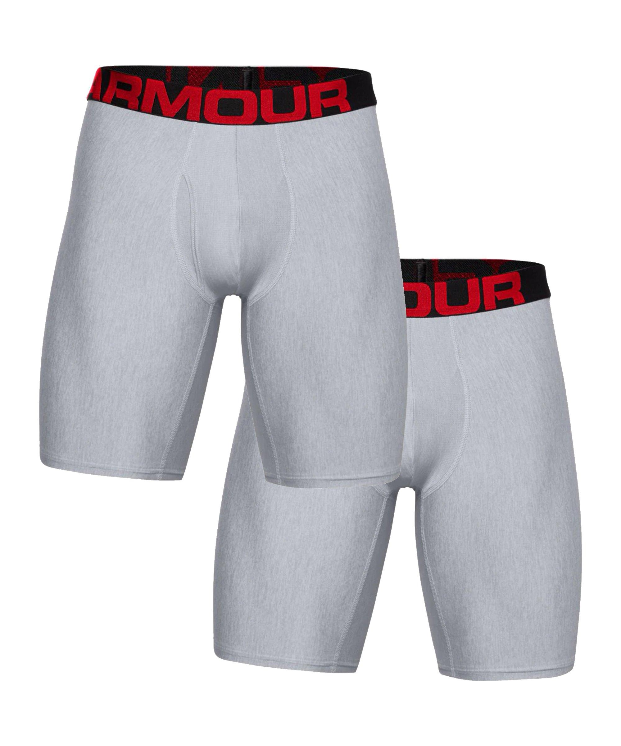 Under Armour Tech 9in Boxershort 2er Pack F011 - grau