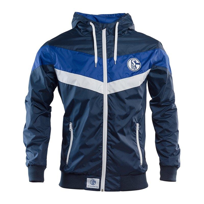 FC Schalke 04 Blau Weiss Windbreaker - blau