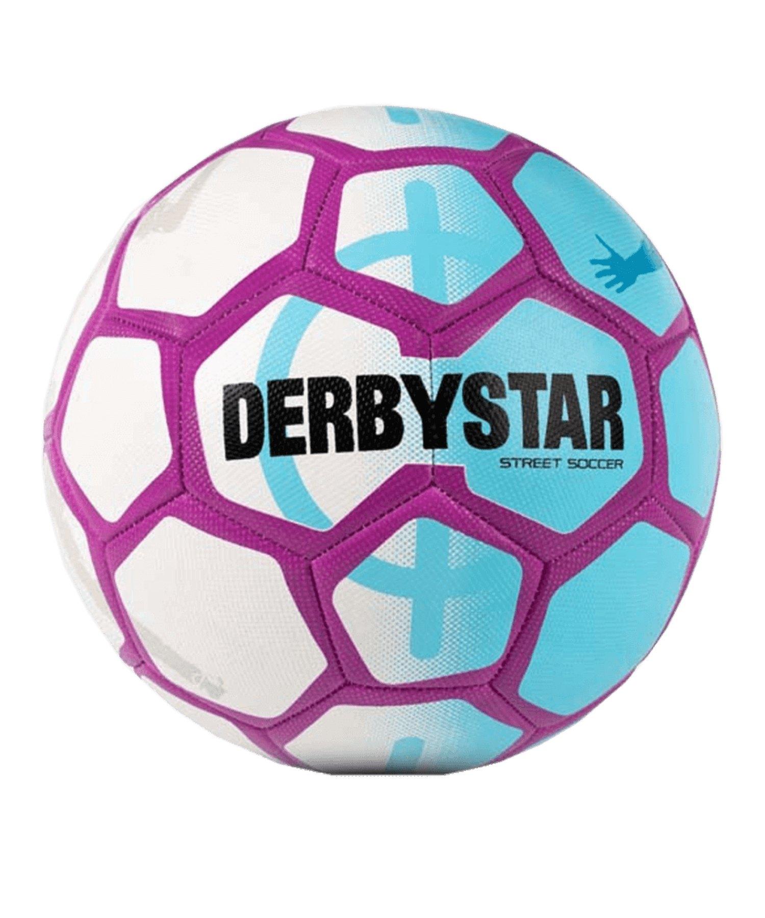 Derbystar Street Soccer Fussball Weiss Blau F169 - weiss