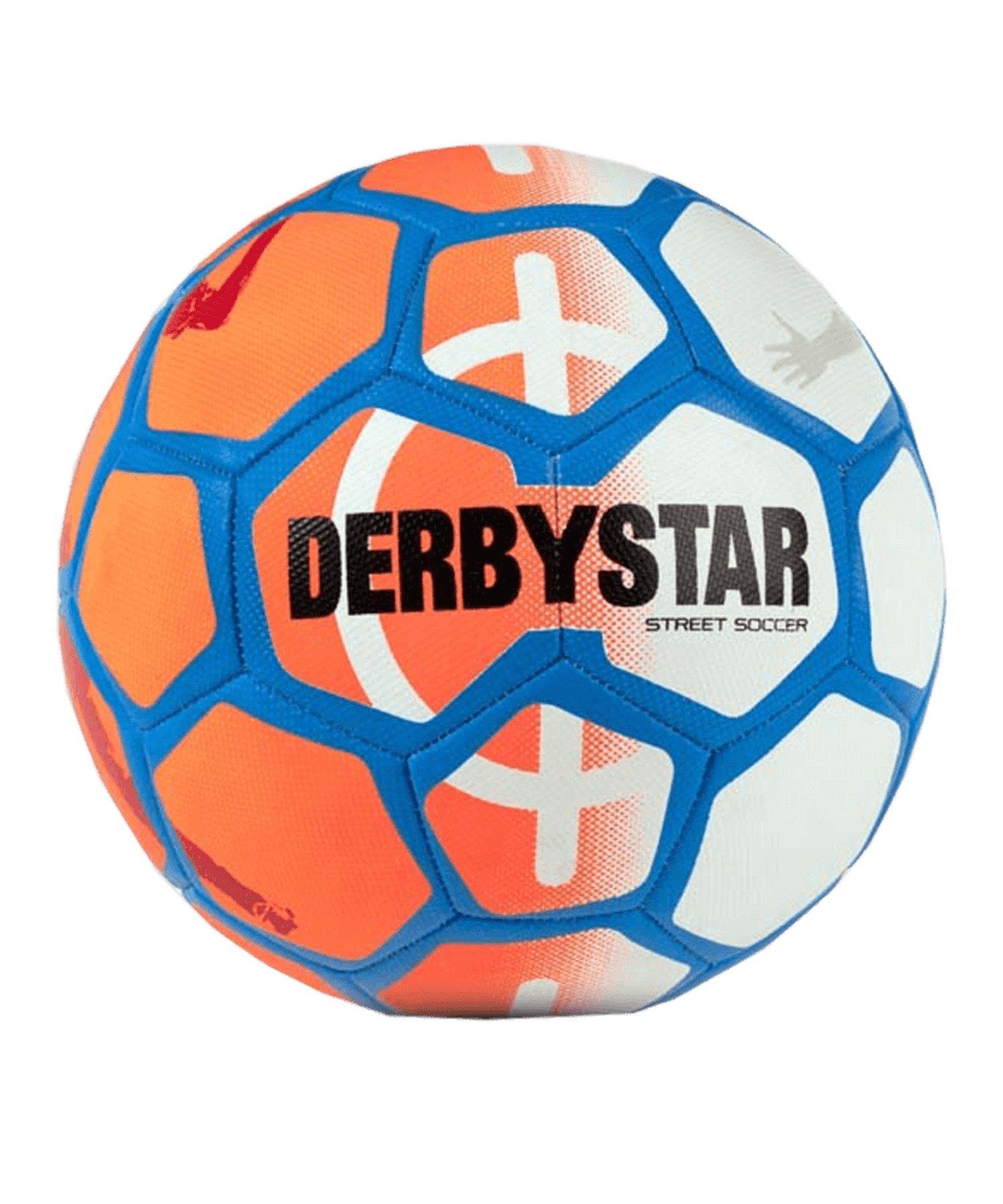 Derbystar Street Soccer Fussball Orange Weiss F716 - orange