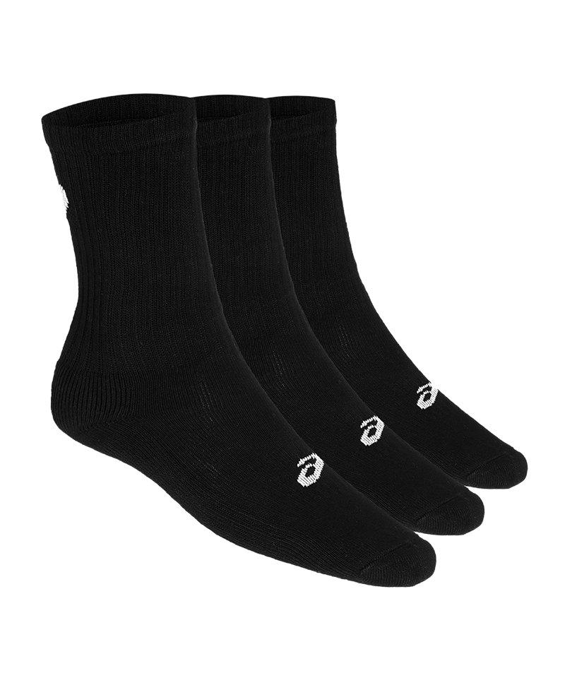 Asics 3er Pack Crew Sock Socken Schwarz F0900 - schwarz