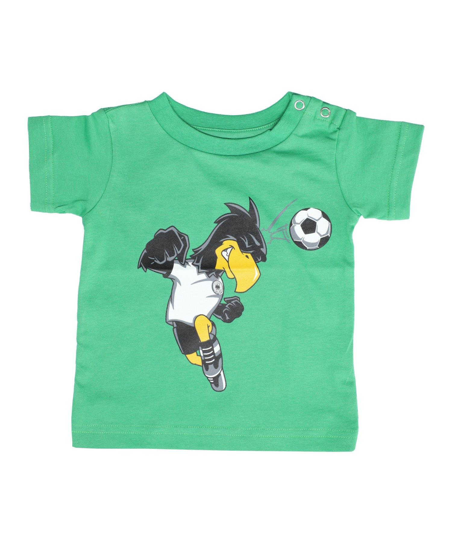 DFB Deutschland Paule Kopfball T-Shirt Kids Grün - Gruen