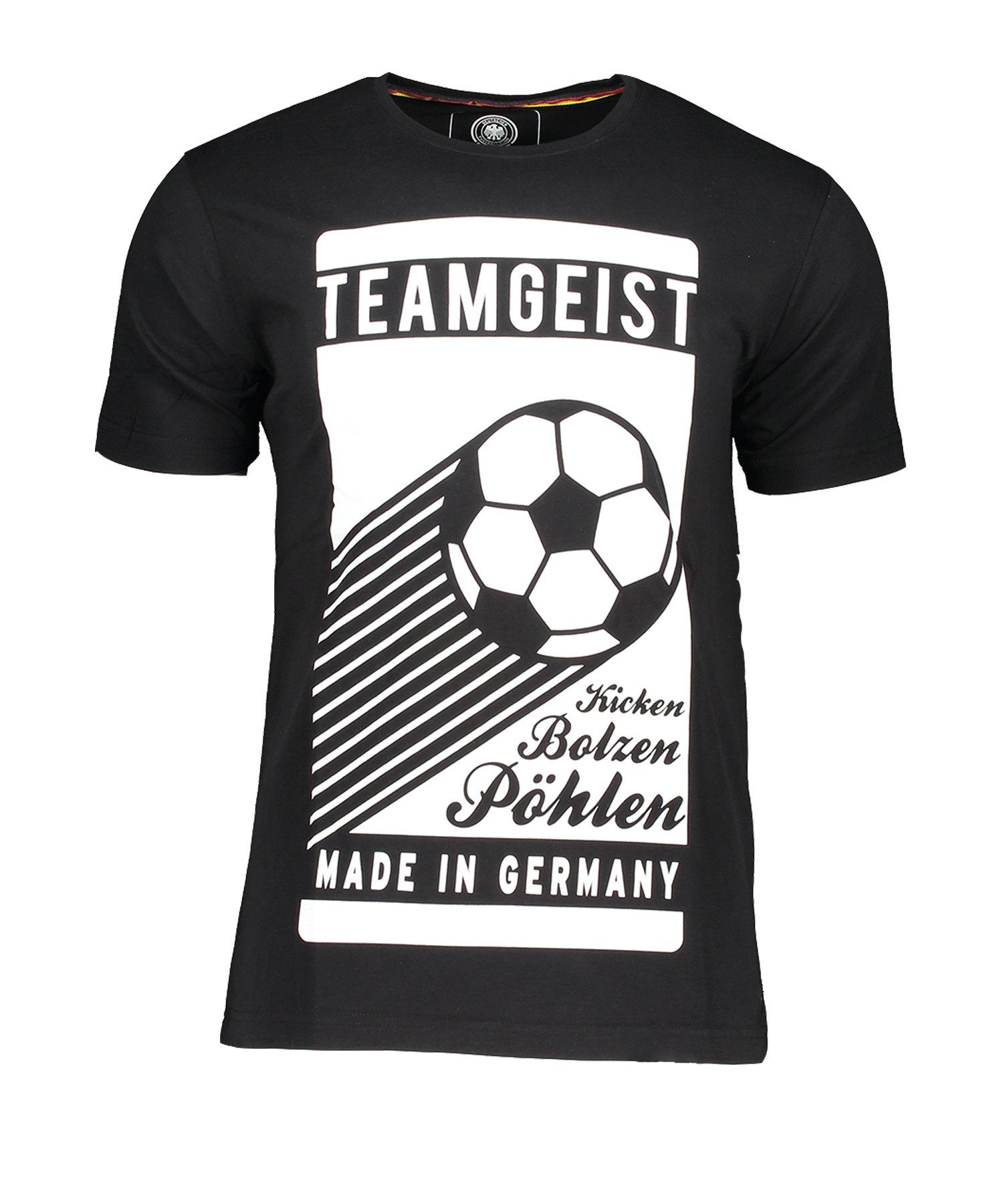 DFB Deutschland Teamgeist T-Shirt Schwarz - Schwarz
