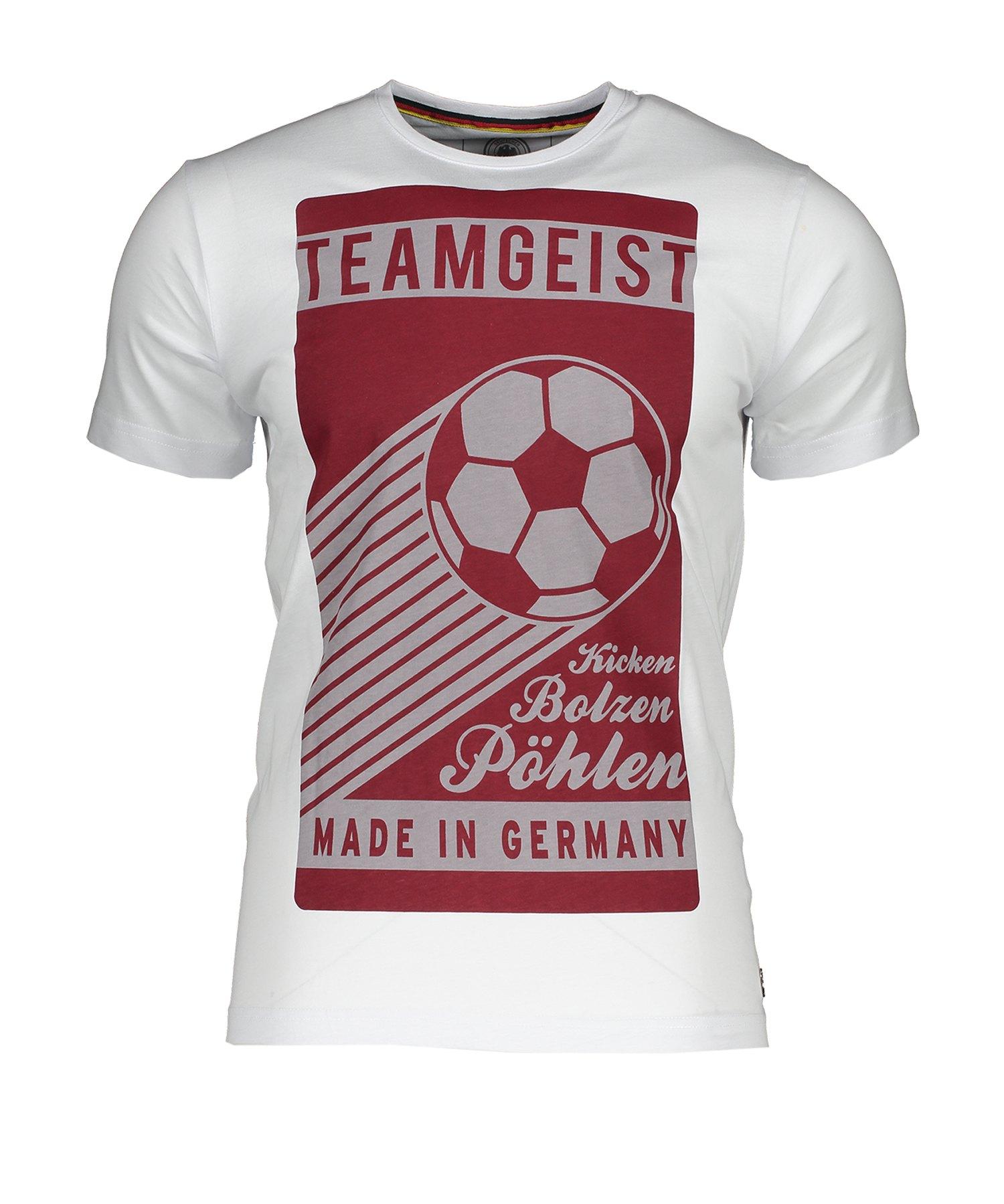 DFB Deutschland Teamgeist T-Shirt Weiss - Weiss