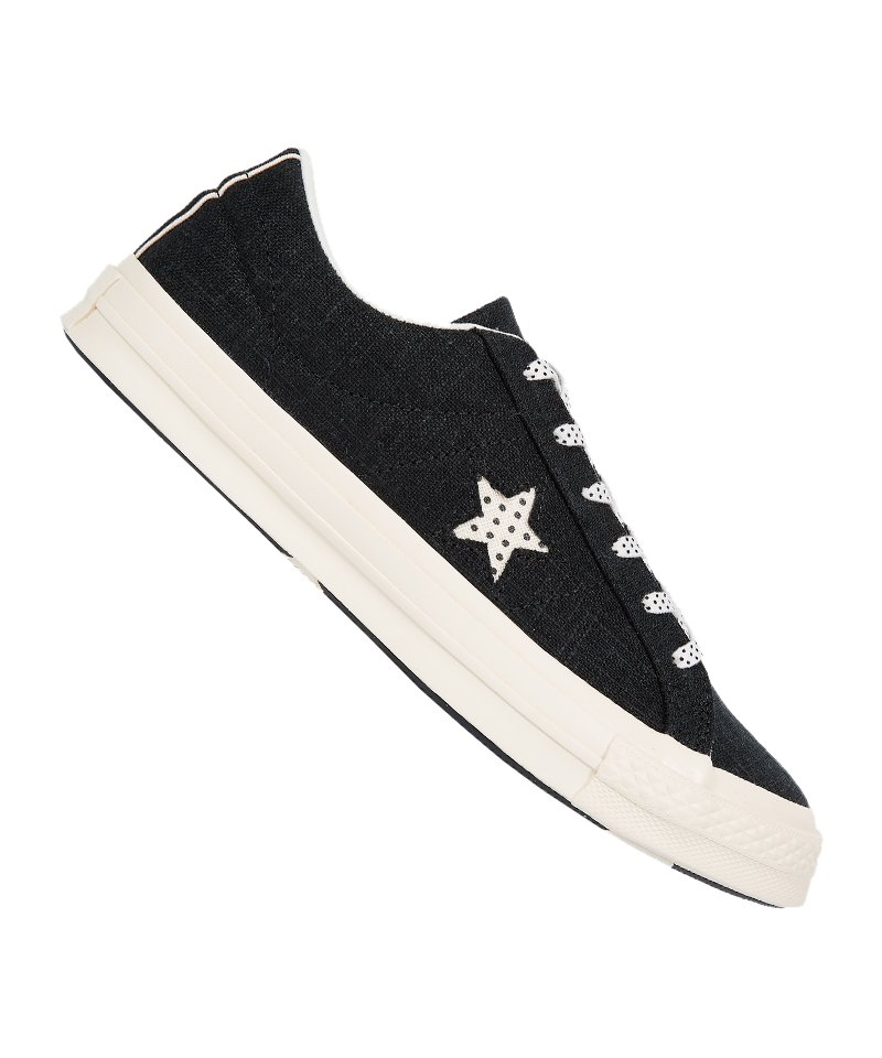 Converse One Star OX Sneaker Damen Schwarz F001 - schwarz