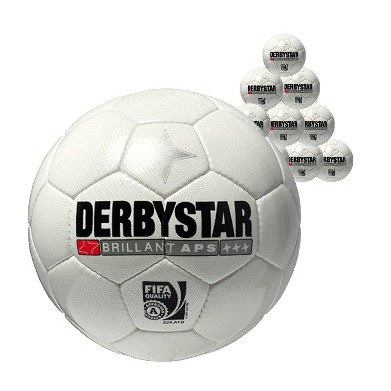 Derbystar 10xSpielball Brillant APS Weiss - weiss