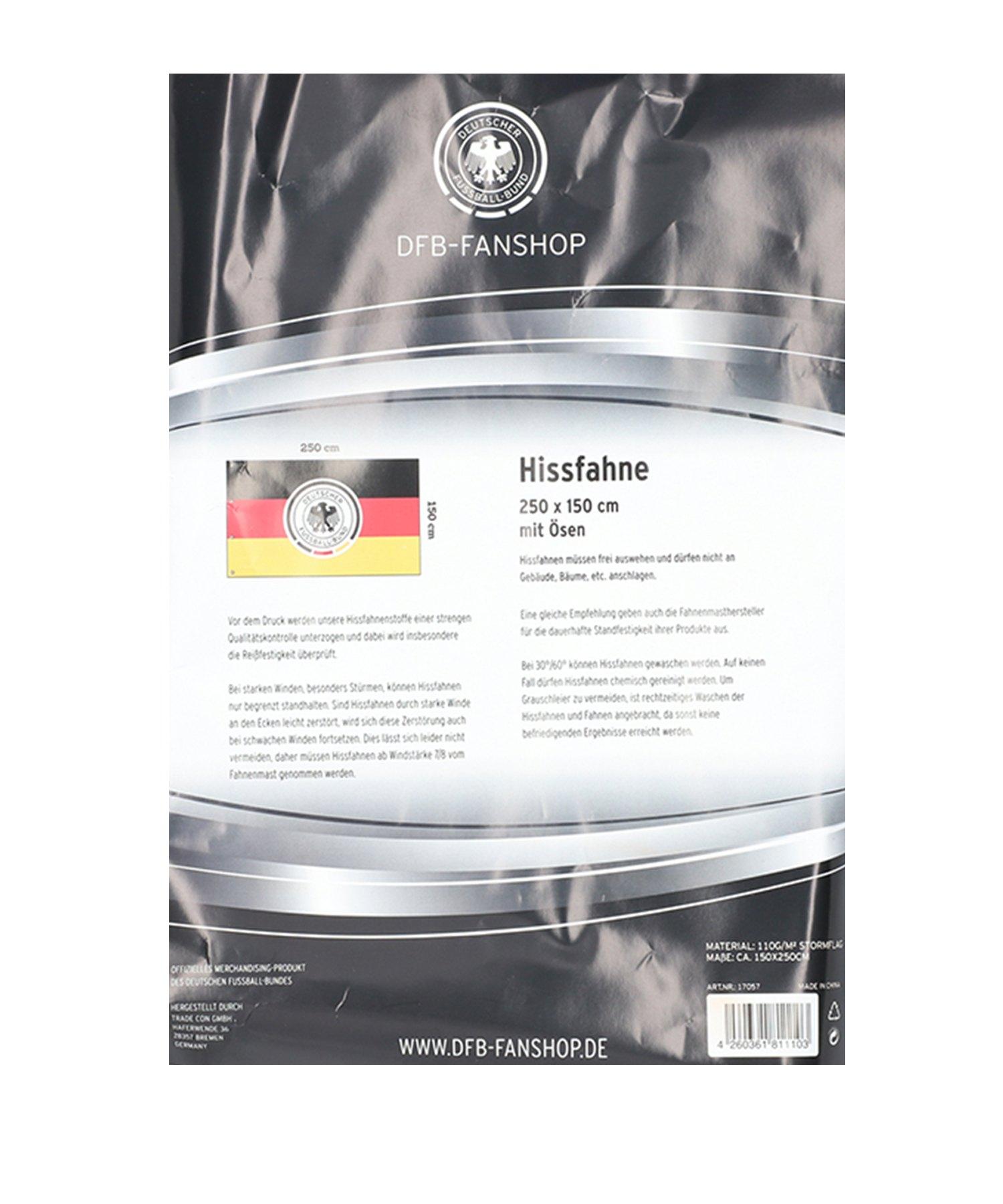 DFB Deutschland Hissfahne Schwarz Rot Gelb - Schwarz